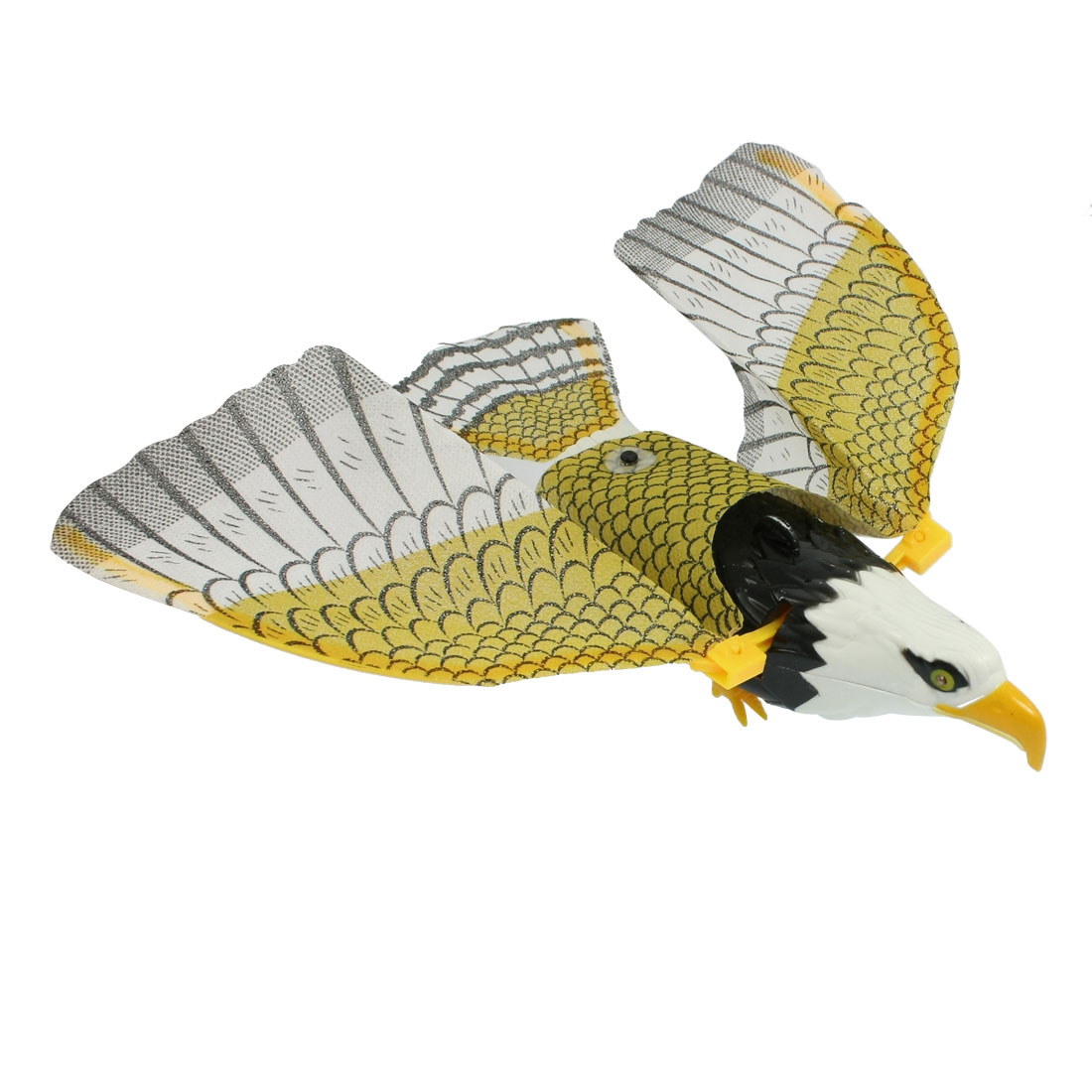 Children Kids Battery Powered Flying Eagle Toy White Yellow