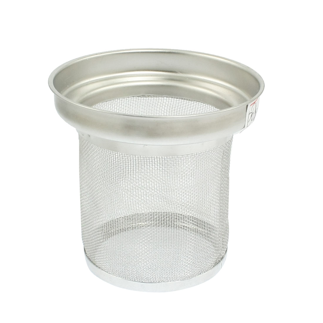 "2.2"" Deep Siver Tone Cylinder Shape Stainless Steel Tea Mesh Strainer"