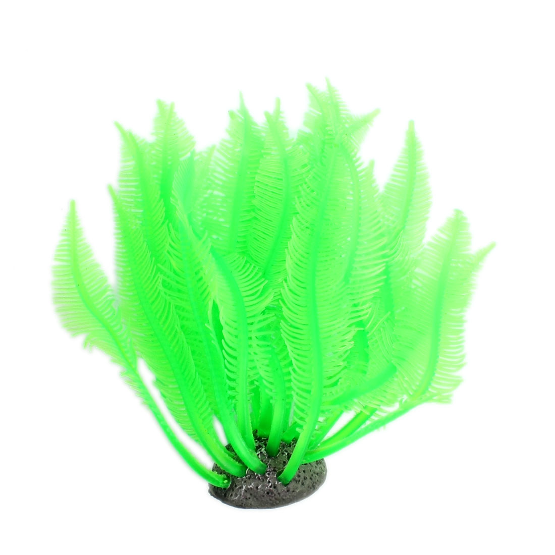 Aquascaping Underwater Silicone Grass Ornament Green for Fish Tank