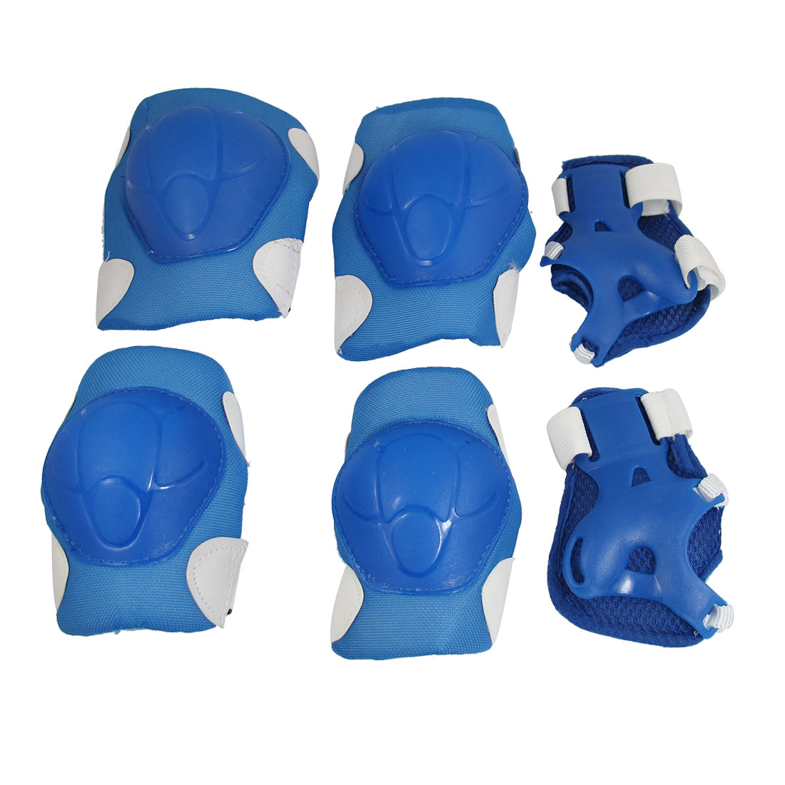 Children Blue White Plastic Cover Elbow Knee Palm Sports Protector