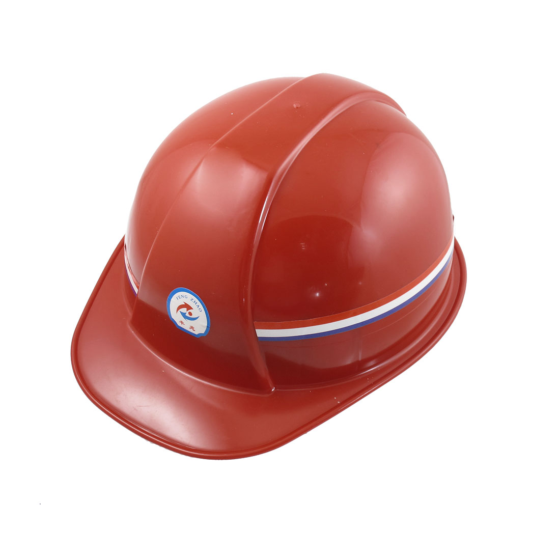 Red Hard Plastic Adjustable Head Band Safety Hat Helmet