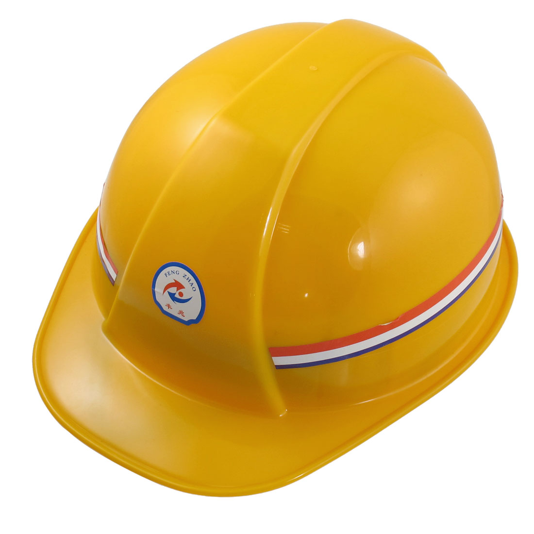 Hard Plastic Adjustable Head Girth Safety Hat Helmet Yellow