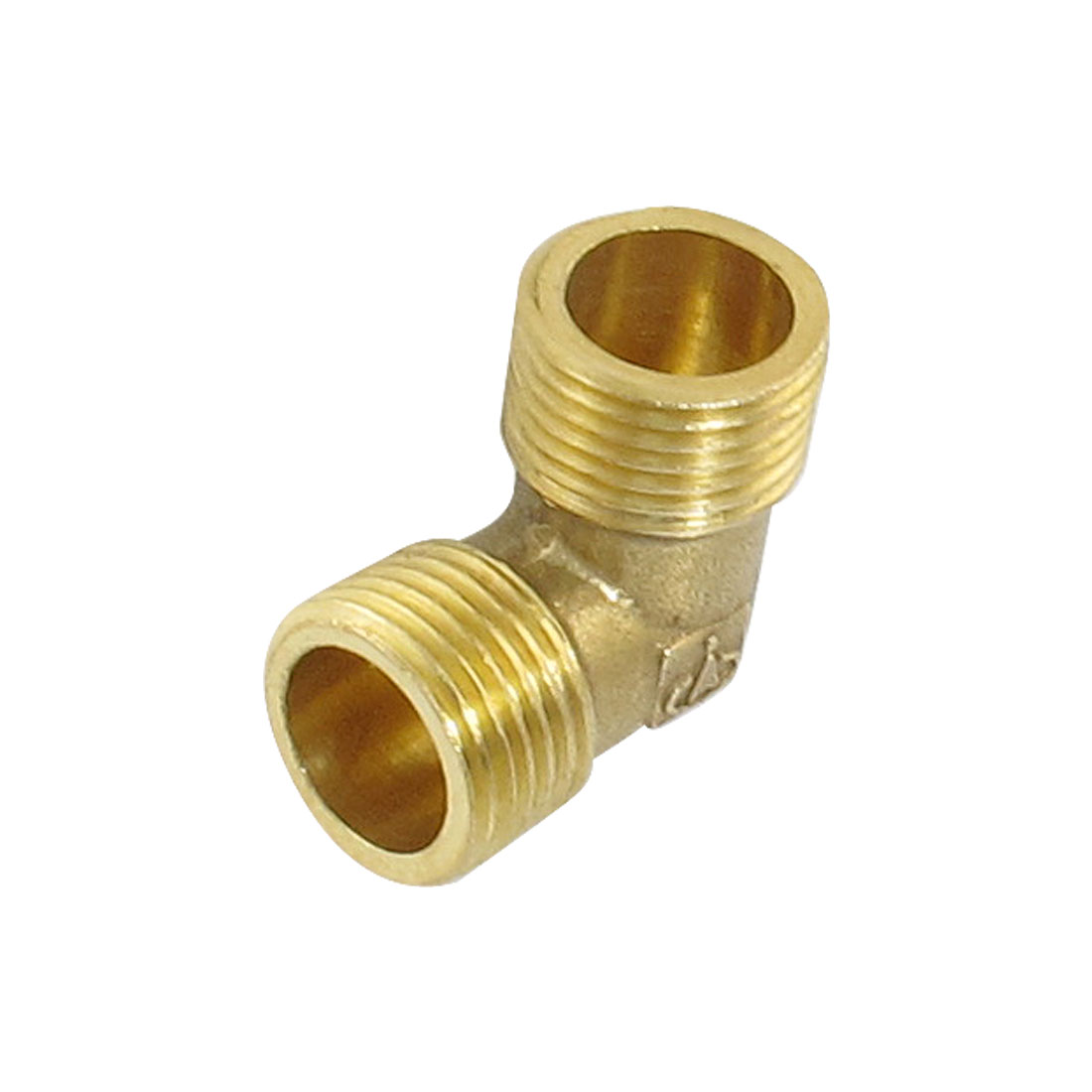 "Air Pipe Brass 3/8"" PT to 3/8"" PT Male Thread 90 Degree Elbow Coupler"