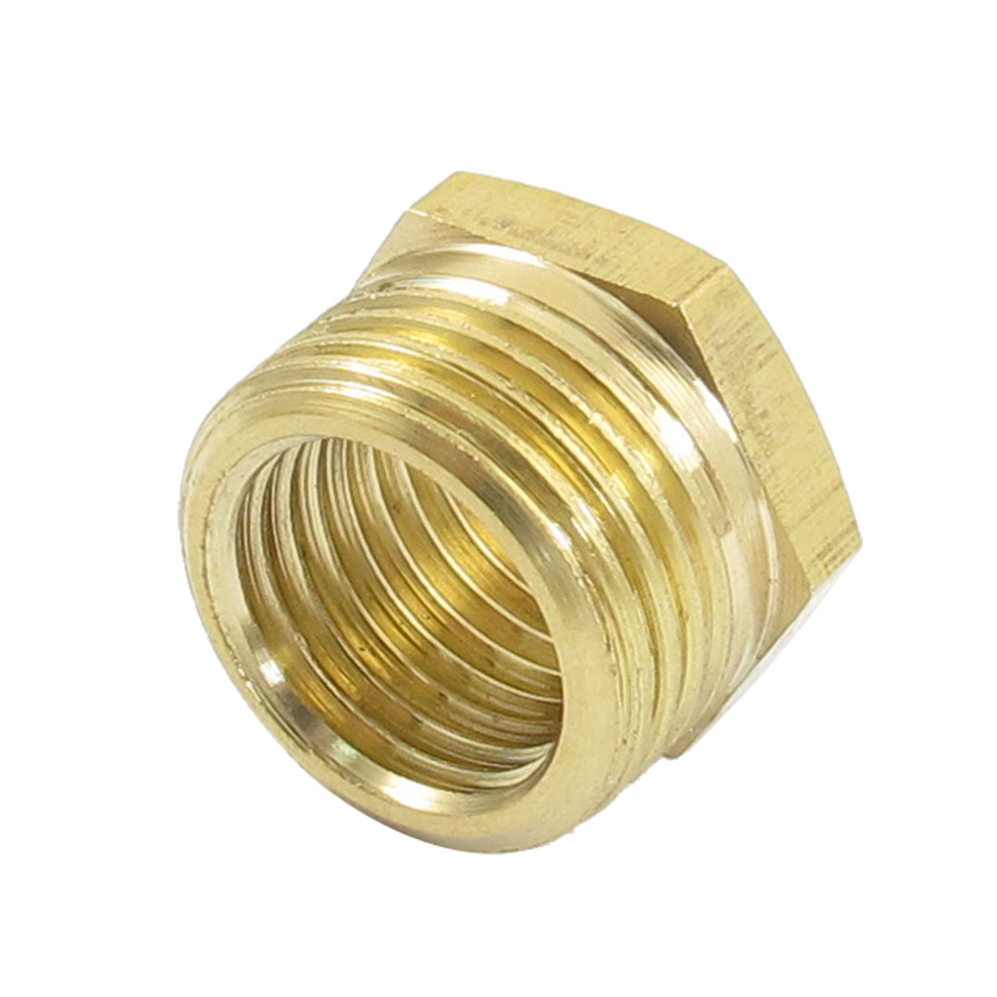 16mm Male to 12mm Female Brass Hex Reducing Bushing Adapter Pipe Fitting