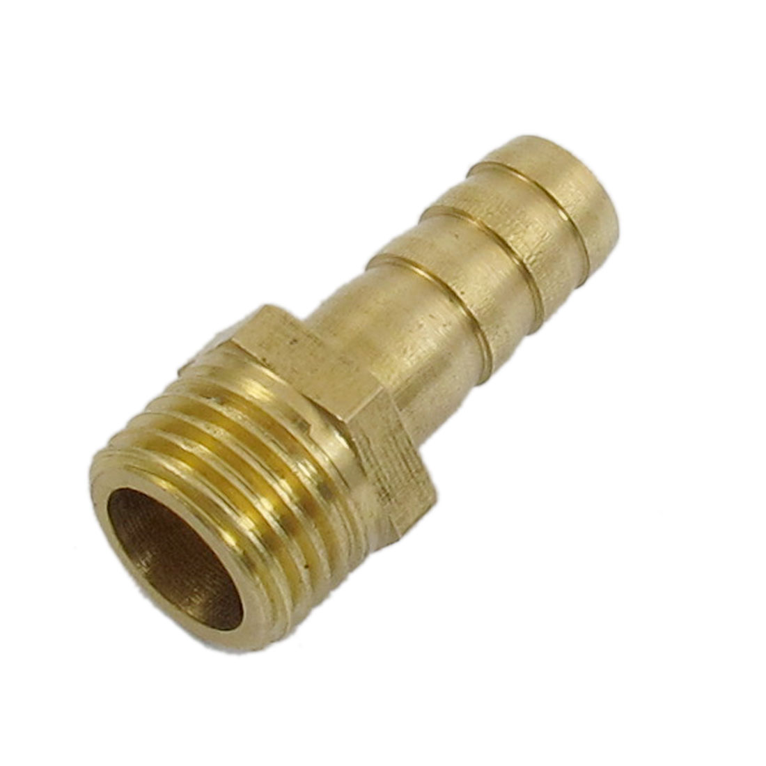 8mm x 13mm Fuel Gas Hose Barb Male Thread Straight Coupling Fitting