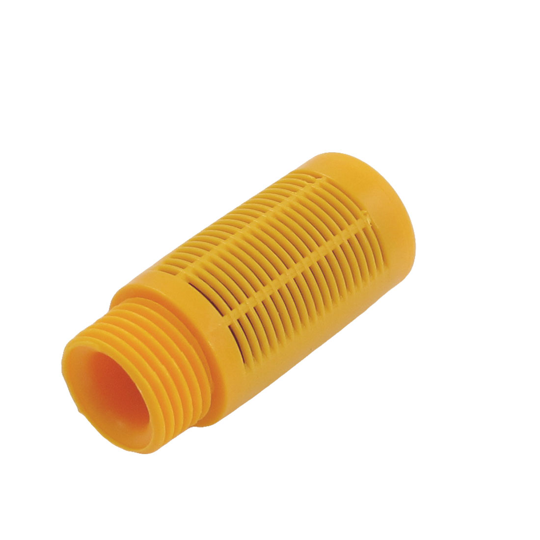 "Yellow Plastic Case Air Exhaust Pneumatic Silencer Muffler 4""NPT"