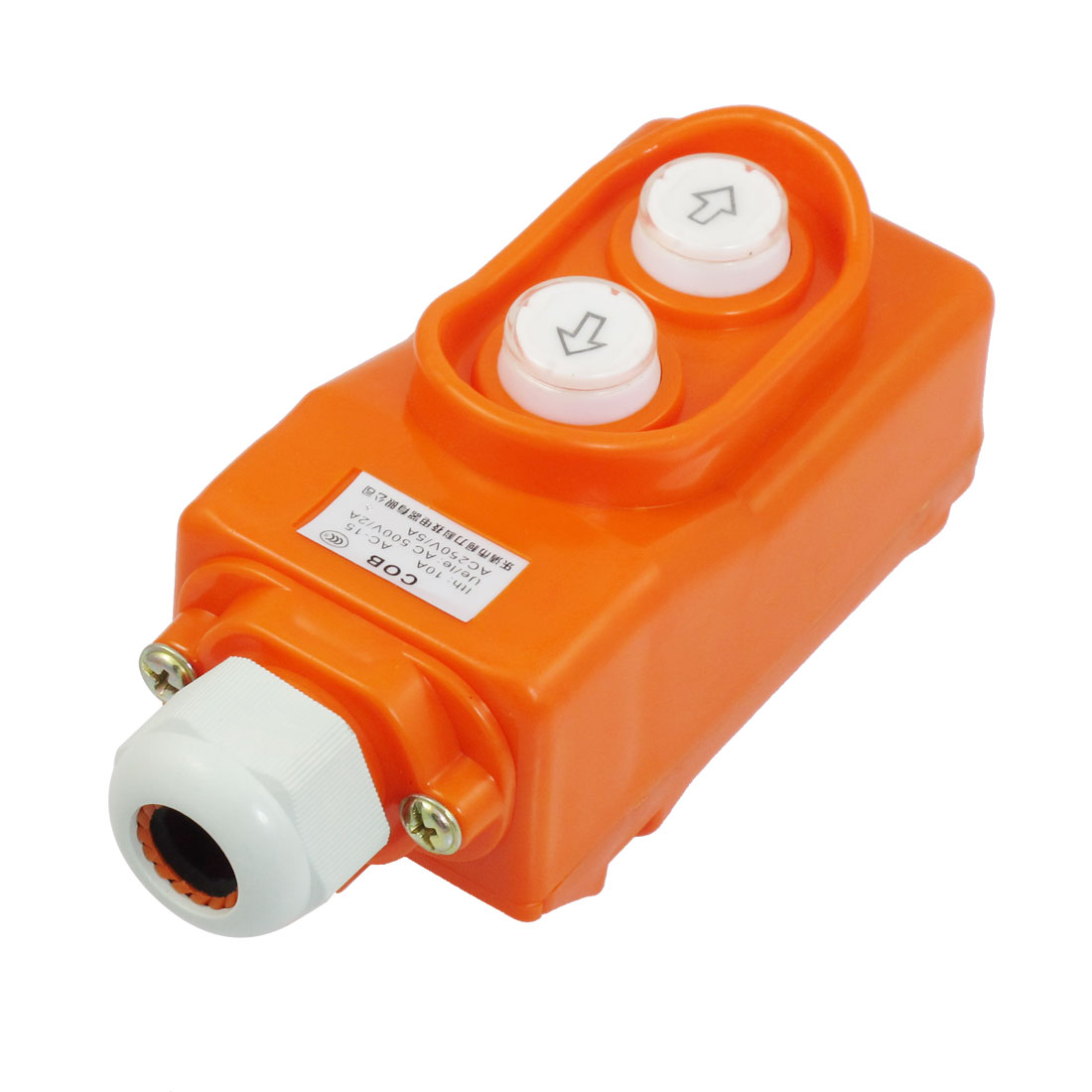 AC 500V/2A AC 250V/5A Monmentary Hoist Pushbutton Switch Orange