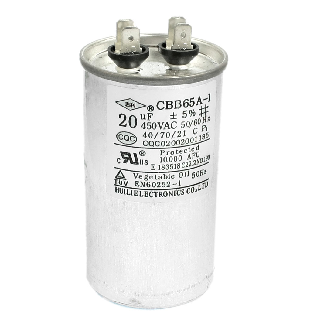 CBB65A-1 20uF AC 450V Motor Capacitor for Air Conditioner Engine