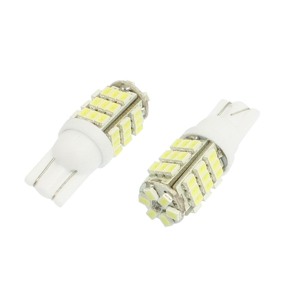 2 Pcs Car T10 194 168 White 1206 SMD 42 LED Tail Turning Light Bulb Lamp