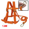 Orange Nylon Cord Full Body Protection Safety Harness w Hook