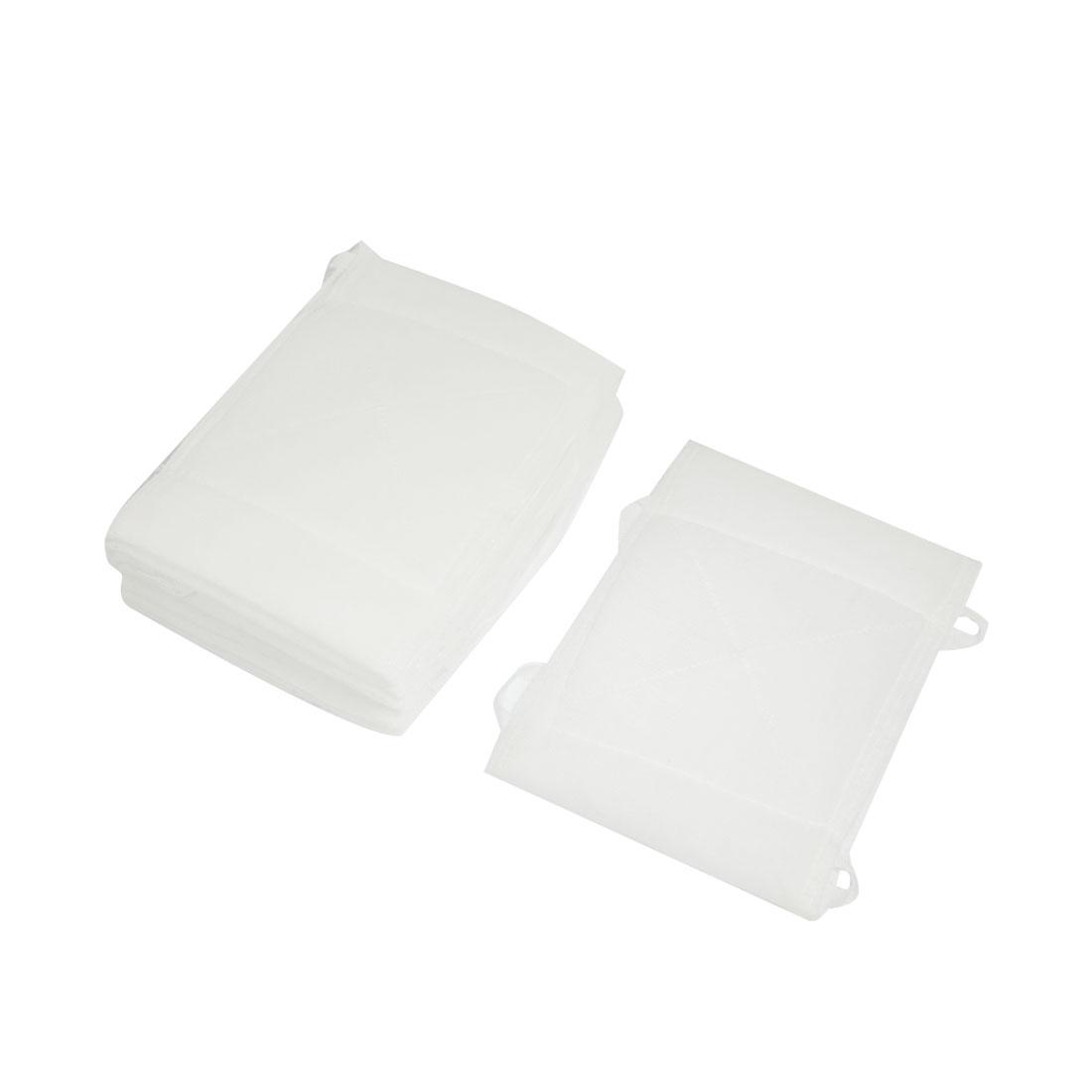 14cm x 18cm Washable White Soft Cotton Face Mouth Mask 10 Pcs