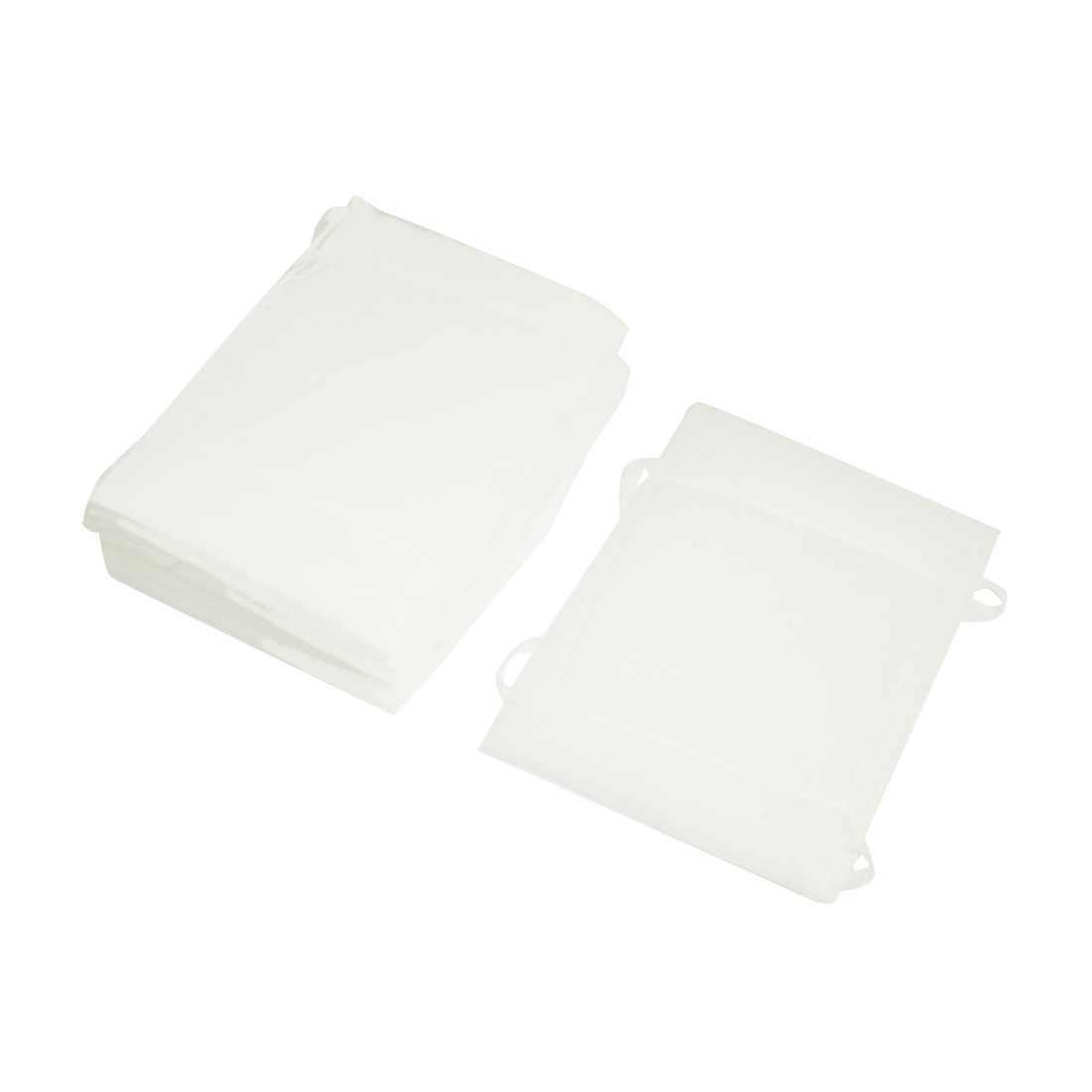 "6.5"" x 4.9"" Washable White Soft Cotton Face Mouth Mask 10Pcs"
