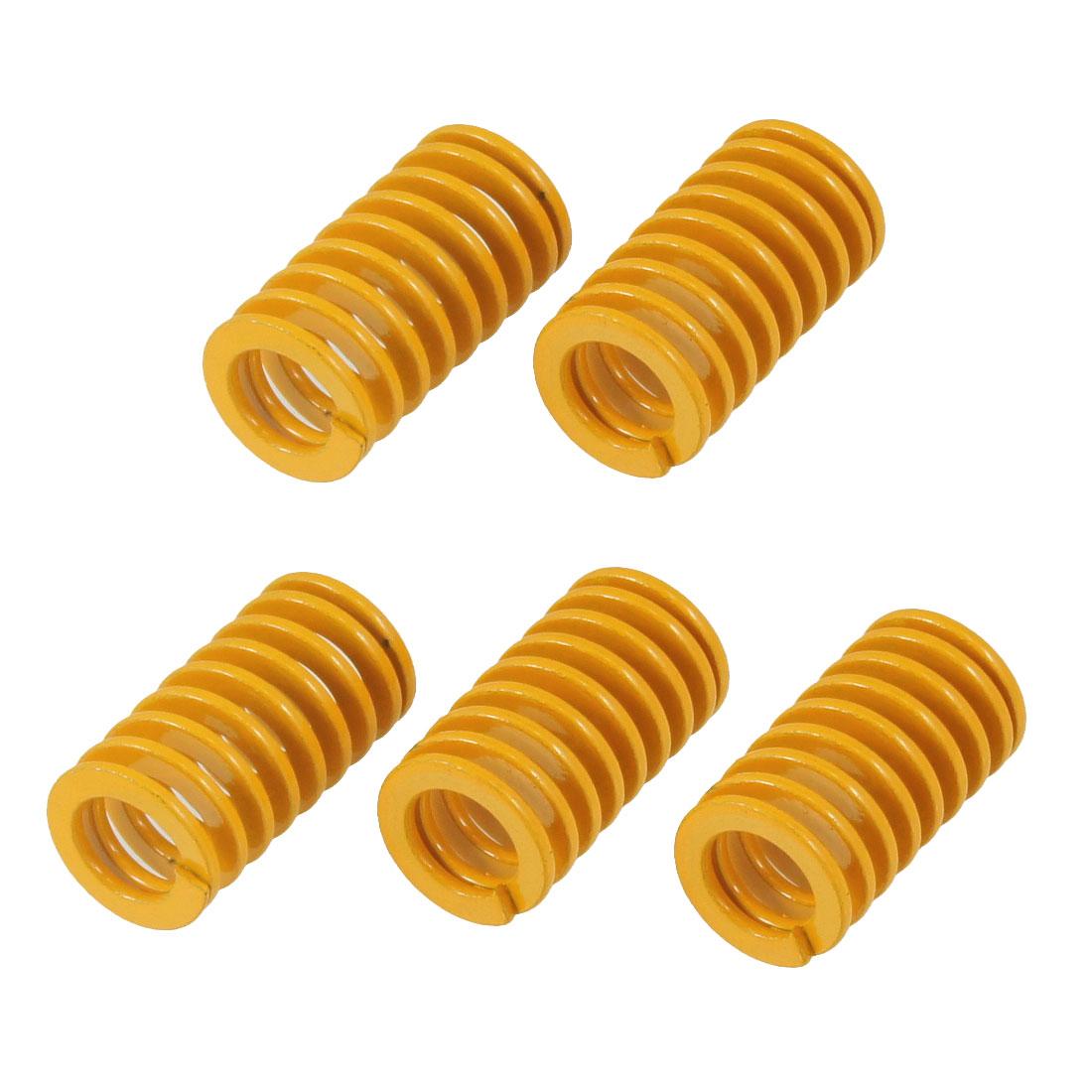 5 Pcs 14mm x 7.5mm x 25mm Spiral Metal Stamping Compression Die Spring