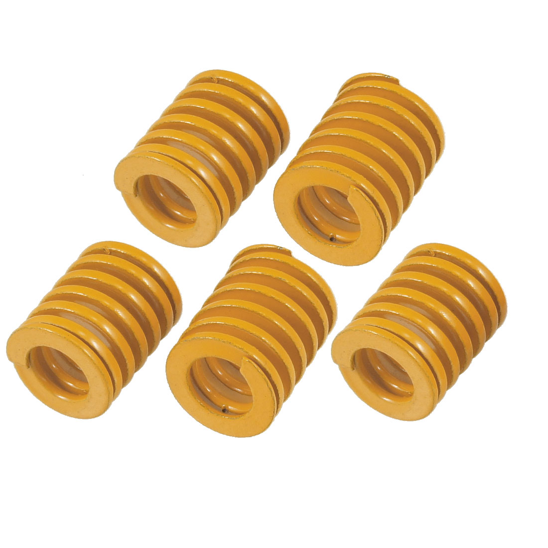 Orange 16mm x 9mm x 20mm Rectangular Section Mould Die Spring 5 Pcs