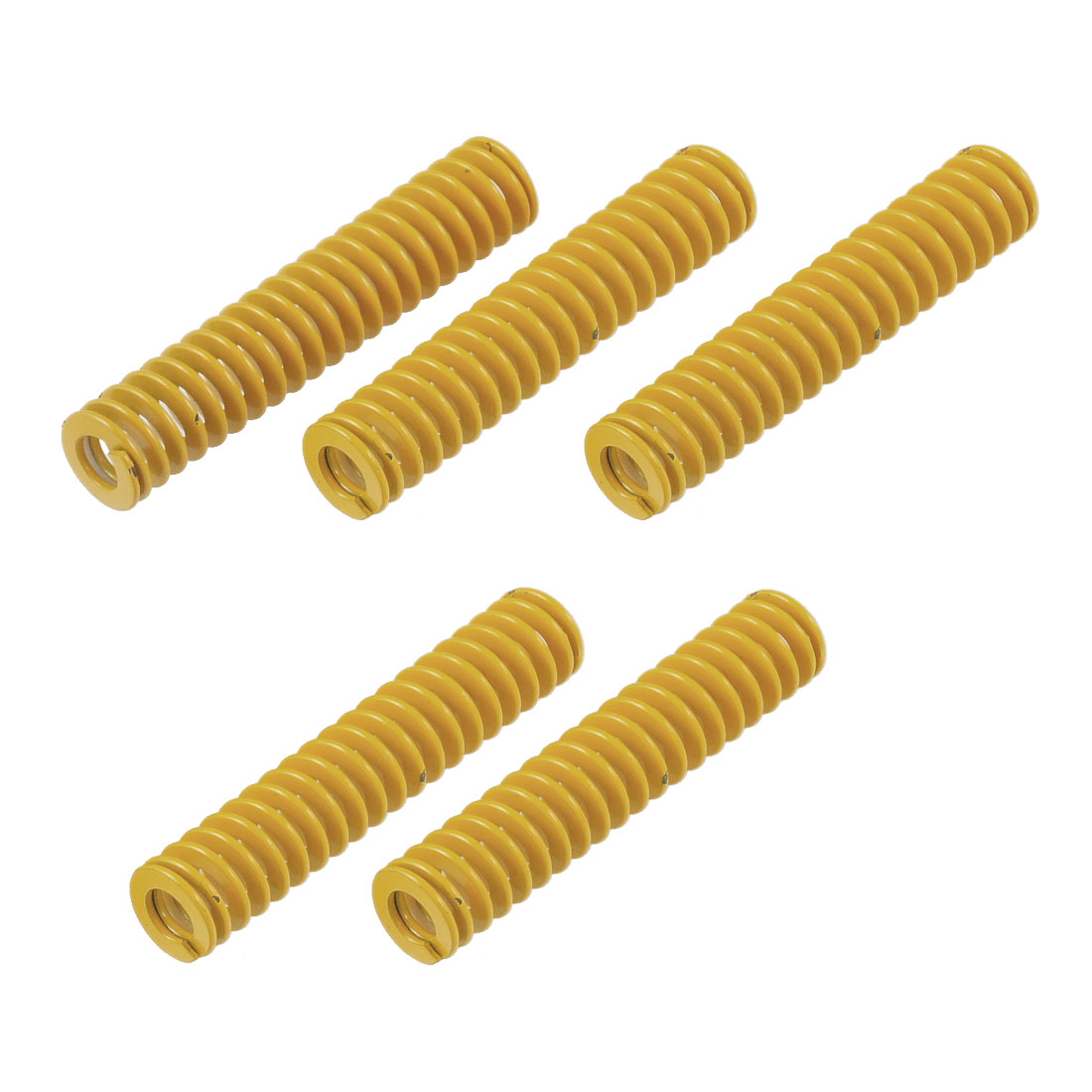 Yellow 12mm x 6mm x 60mm Rectangular Section Mould Die Spring 5 Pcs