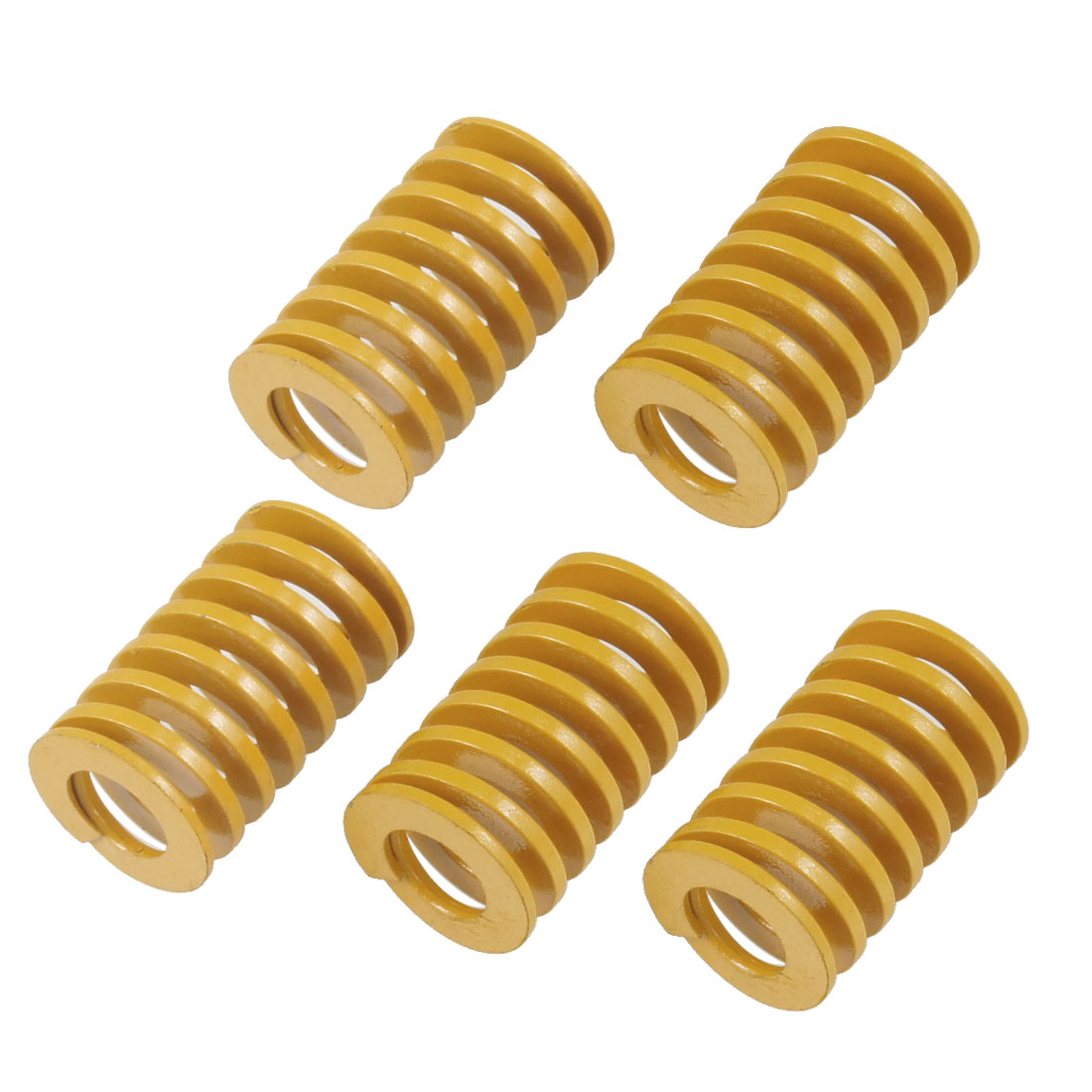 16mm x 8.5mm x 25mm Tubular Section Mold Mould Die Spring Orange 5 Pcs
