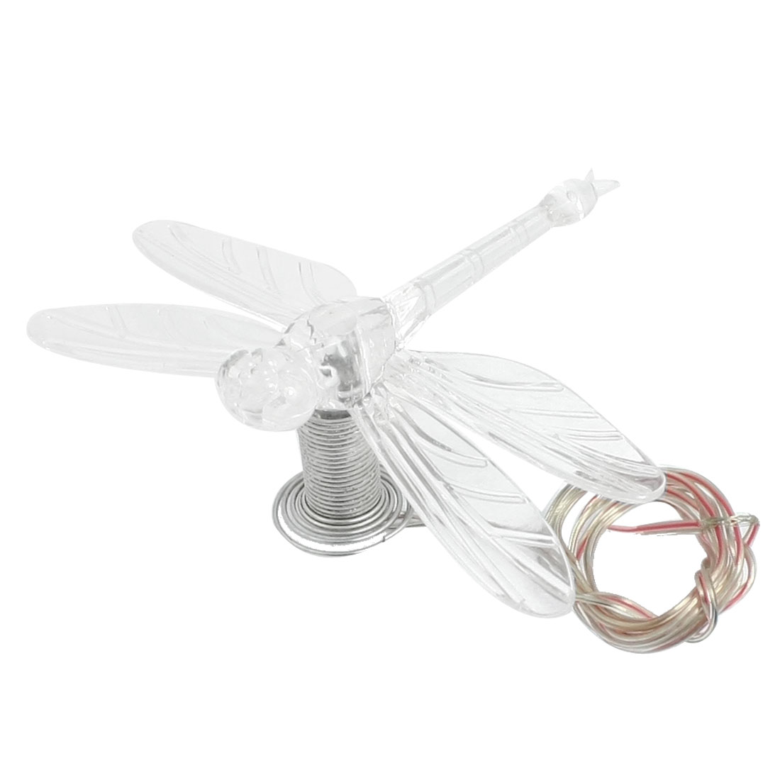 Car Clear Plastic Dragonfly Shaped Colorful LED Light Lamp