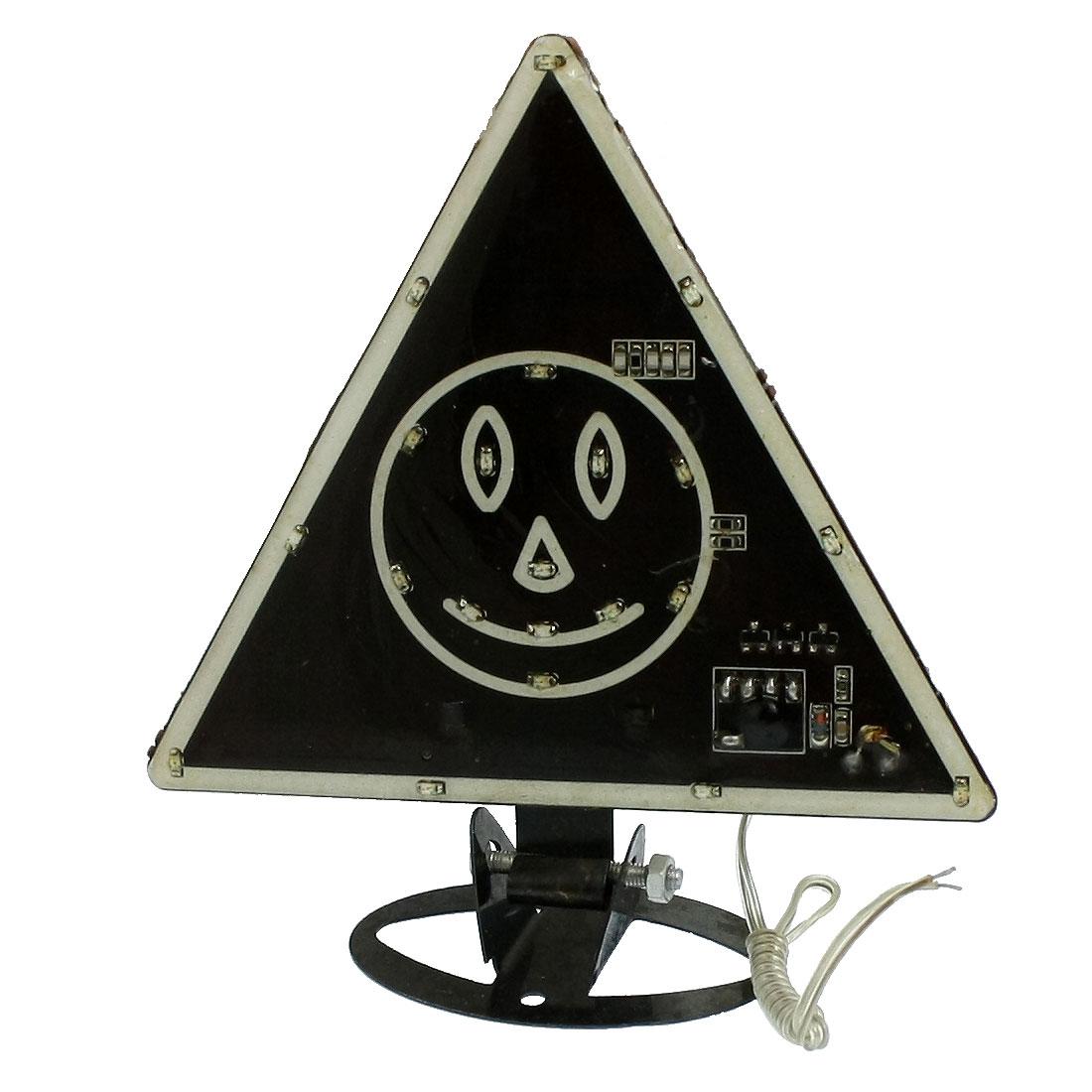 Car Decorative Smiling Face Colorful Flashing Light 21-LED Moga Lamp Black