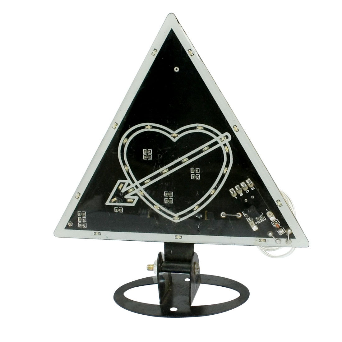 Car Decorative Heart Colorful Flashing Light 30-LED Lamp Black