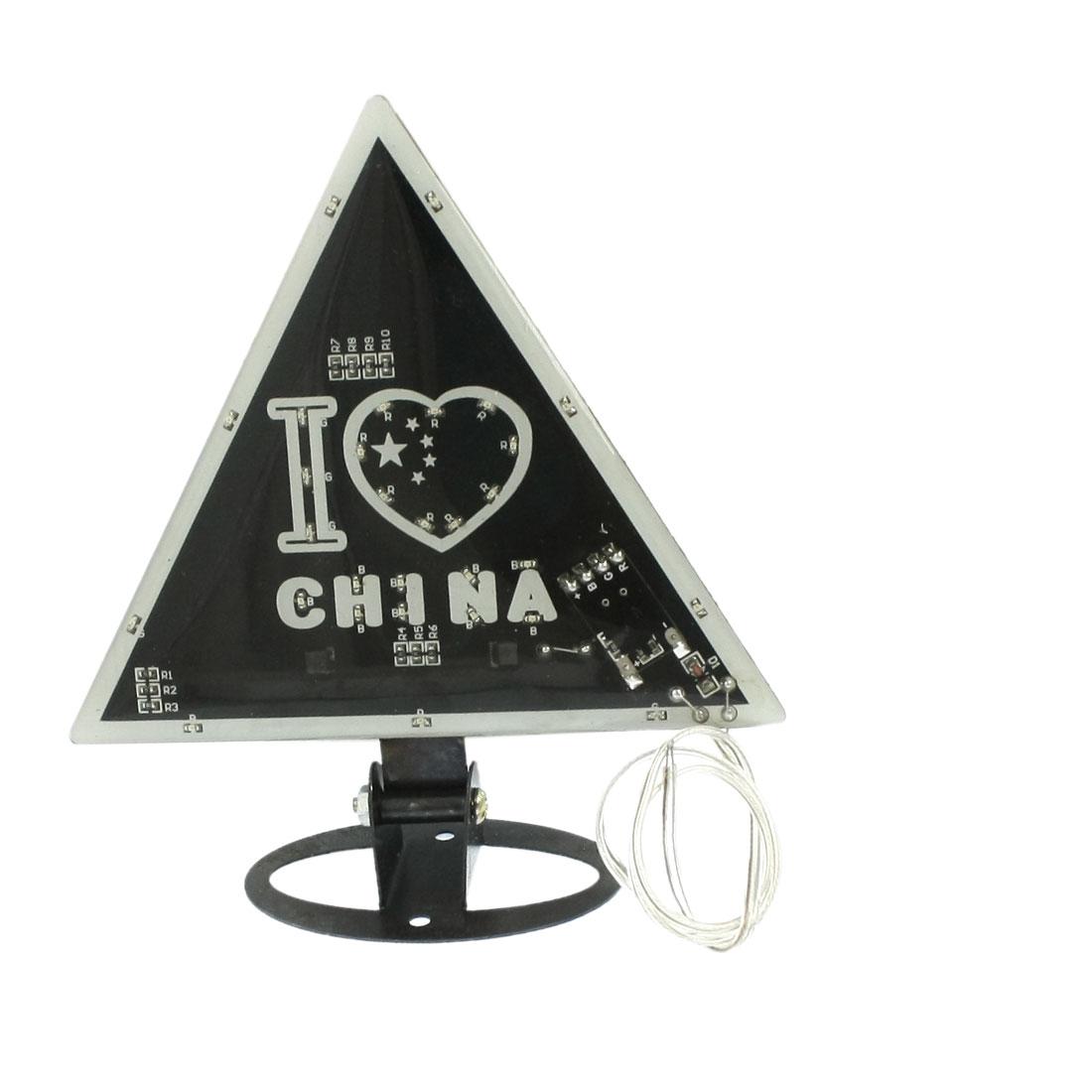 Car Decorative Heart Letters Style Flashing Light 30-LED Moga Lamp Black