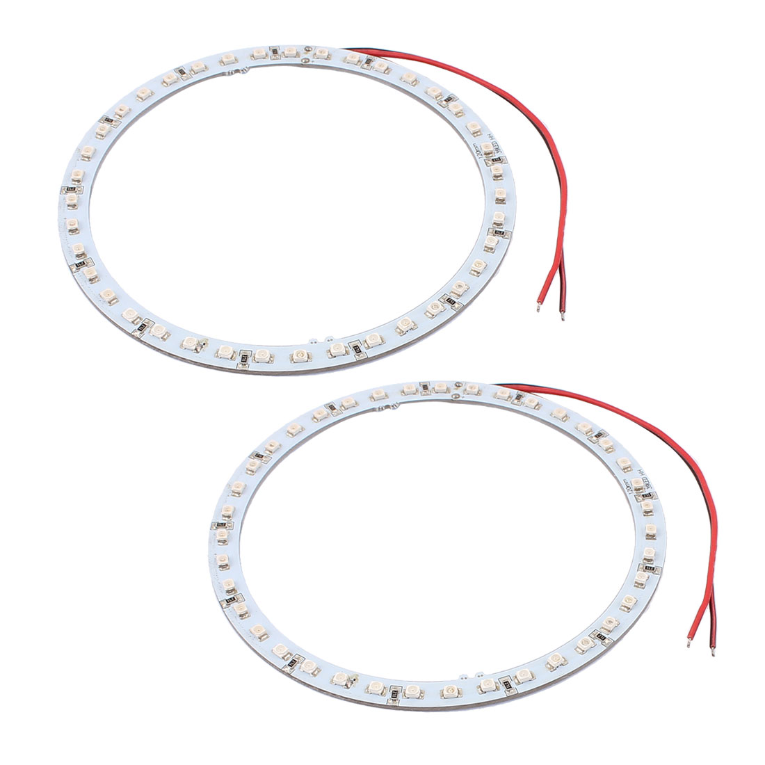 2 Pcs 120mm Dia Red 39 SMD LED Car Rear Angel Eyes Ring Light