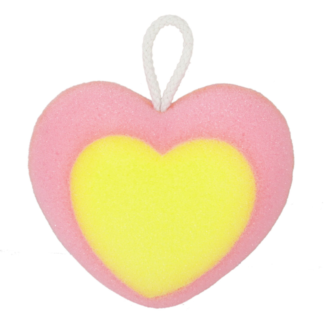 Yellow Heart Decor Pink Heart Shape Body Massage Cleaner Shower Sponge
