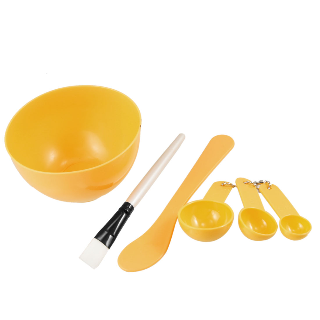 Ladies Yellow Plastic 4 in 1 DIY Facial Beauty Mask Bowl Beauty Cosmetic Set