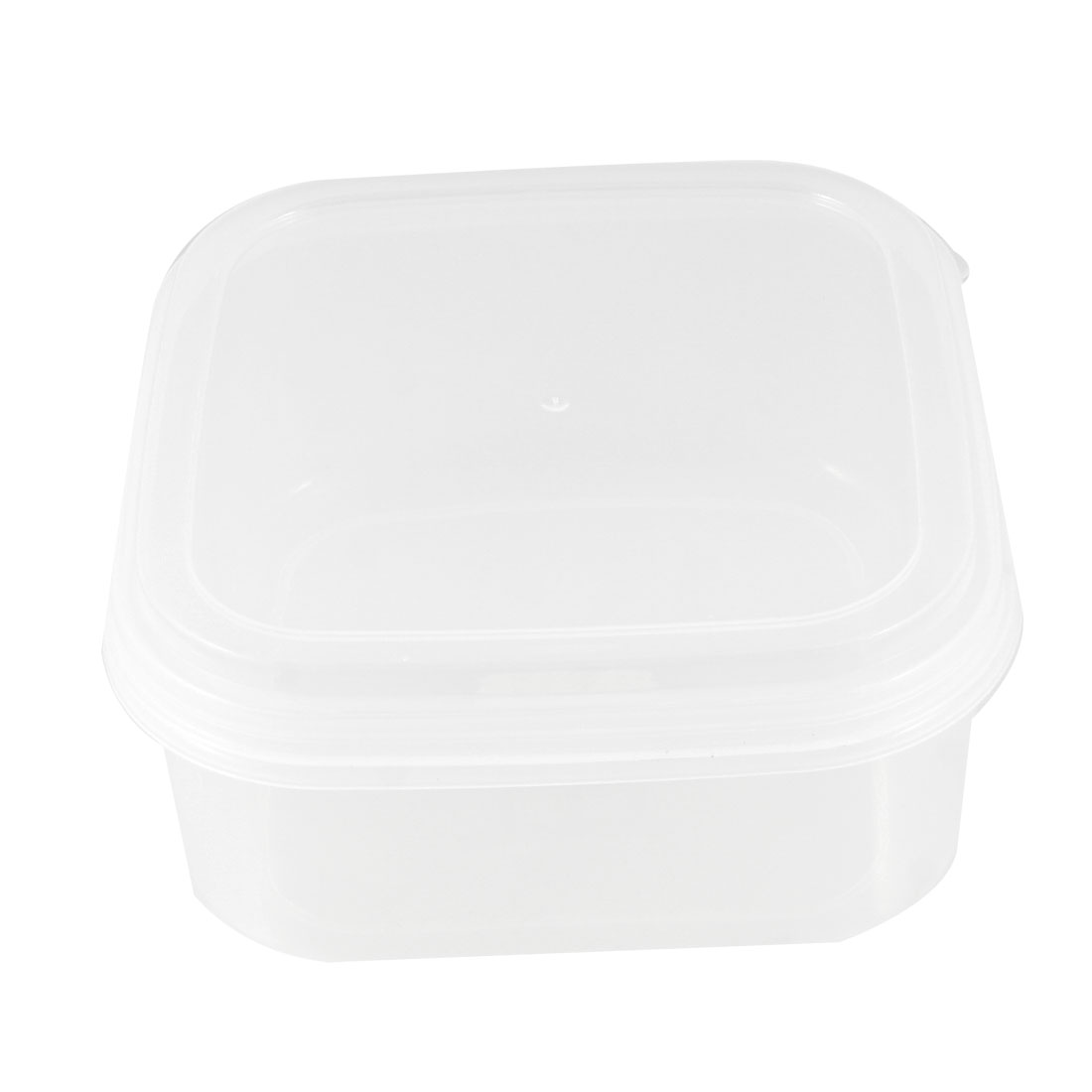 Clear White Square Shaped Plastic Preservations Food Container