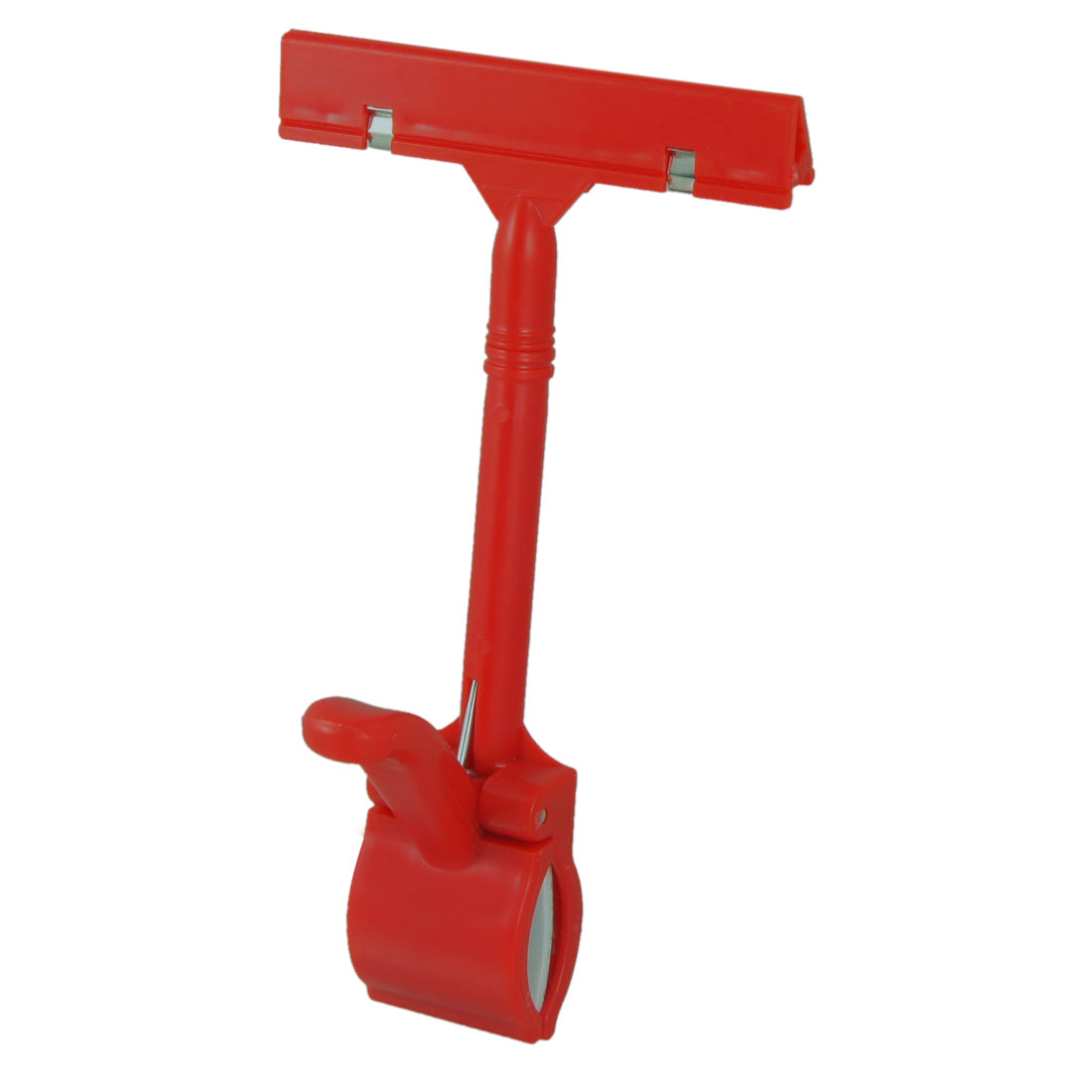 Retail Store Pop Sign Card Rotatable Plastic Advertising Clip Red