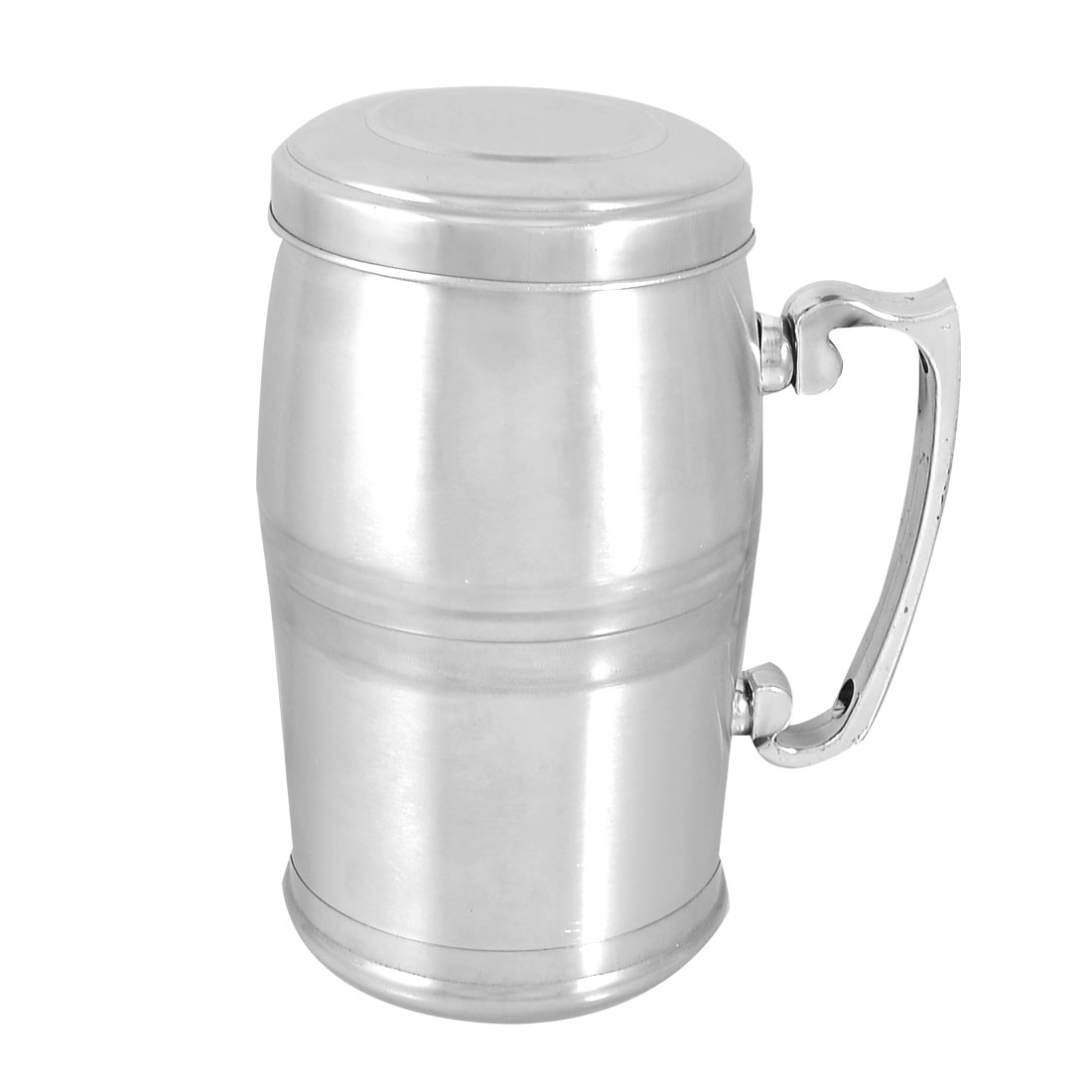 Silver Tone Stainless Steel Tea Strainer Inner Vacuum Flask Mug 380ml