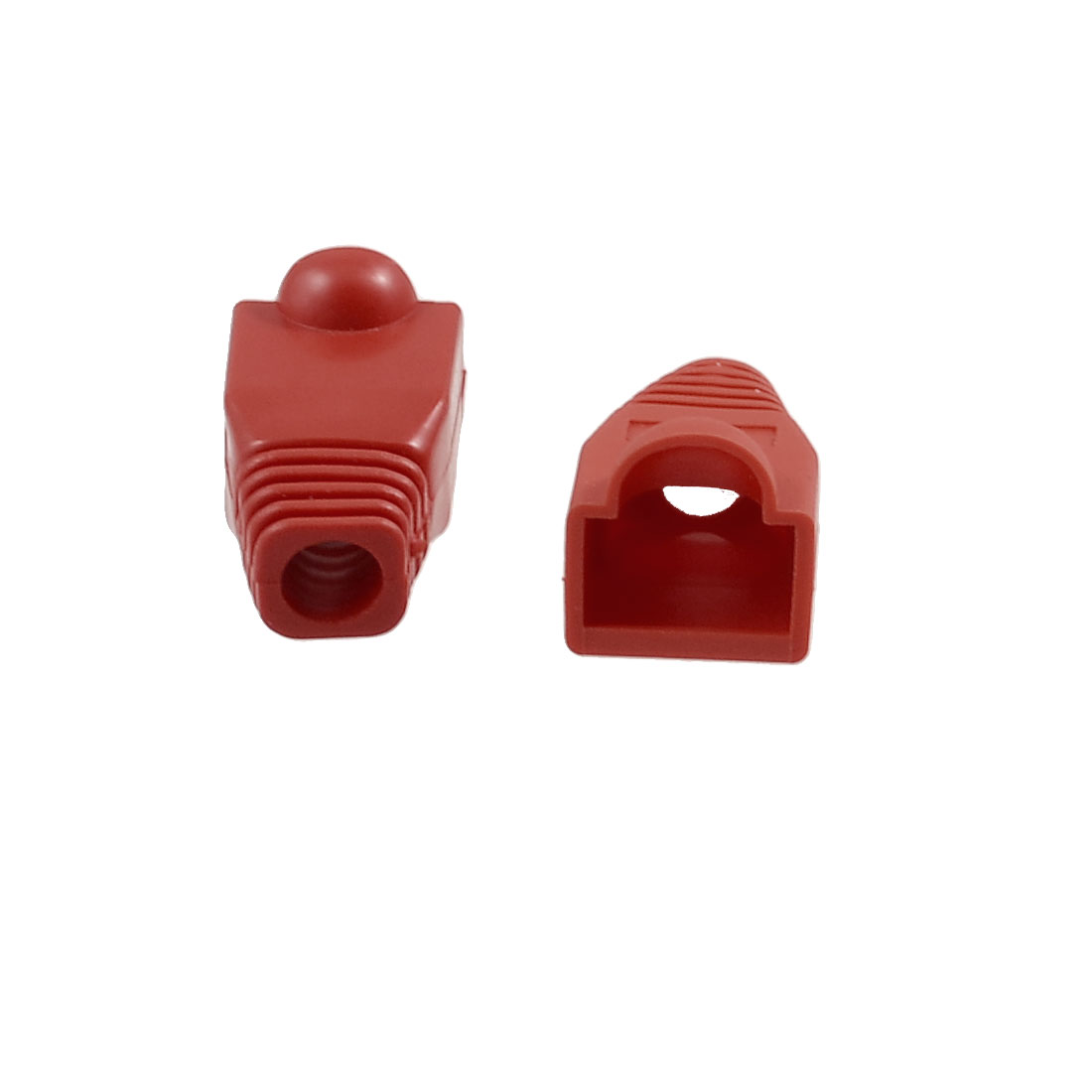 4 Pcs Red Plastic Network Cable Boot Cap Cover for RJ-45 Connectors