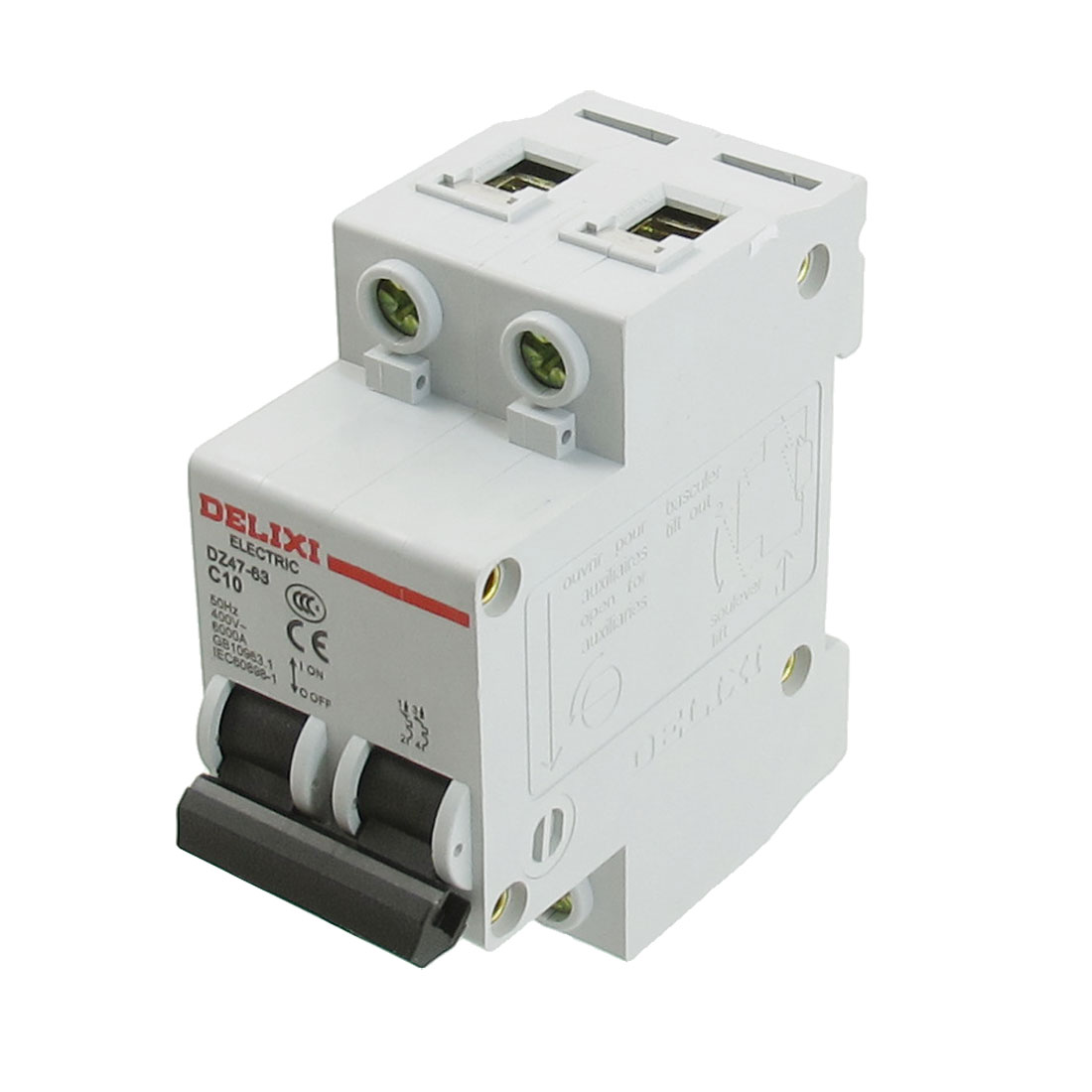 AC 400V Rated Current 10A Double Pole Miniature Circuit Breaker