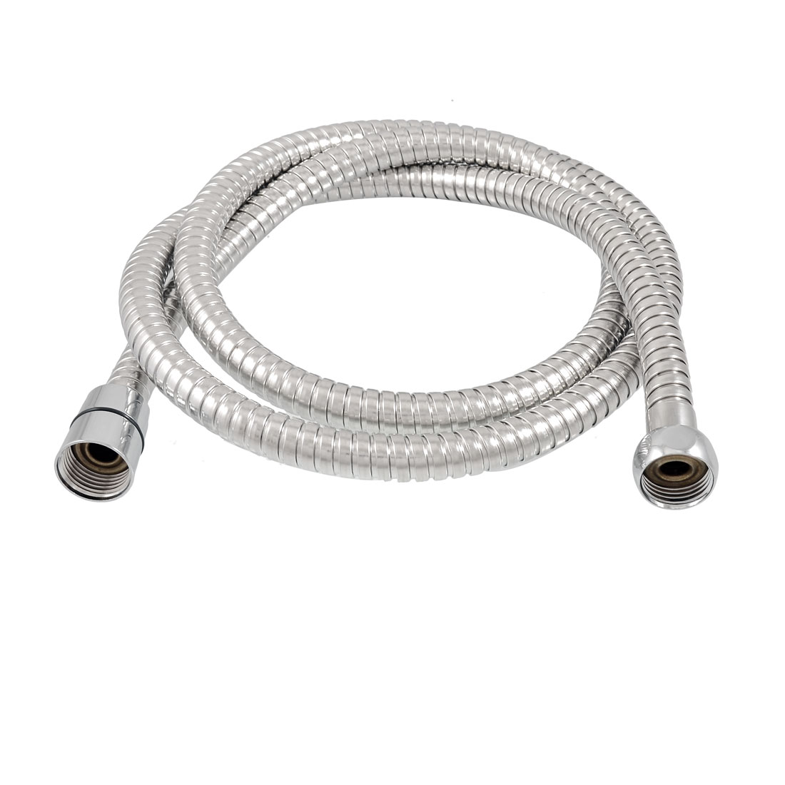 Silver tone Stainless Steel Flexible Handheld Shower Hose 1.58M