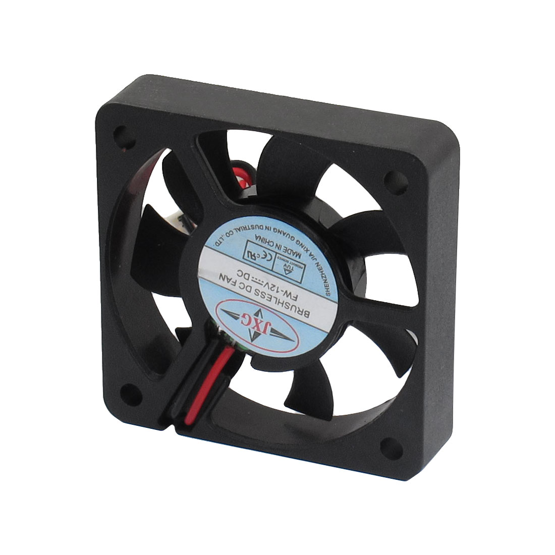 DC 12V 2 Terminals Connector Brushless Cooling Fan 50mm x 50mm x 10mm