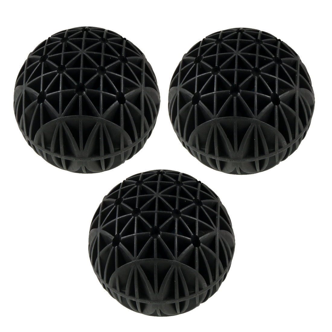 "Aquarium Fish Tank Filter 3.0"" Dia Black Biological Bio Balls 3 Pcs"