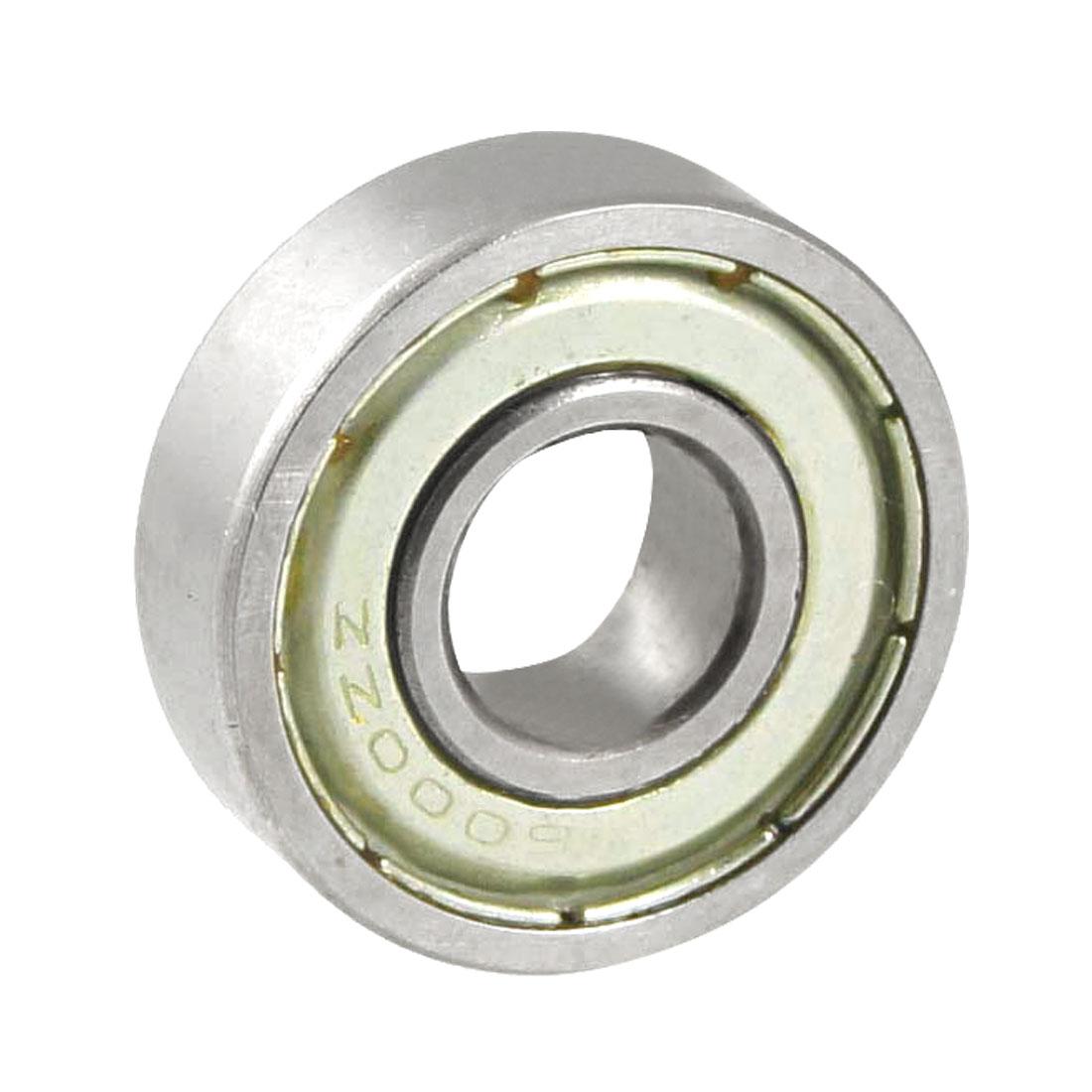 Silver Tone 6000ZZ 26mm x 9mm x 8mm Metal Shield Ball Bearing