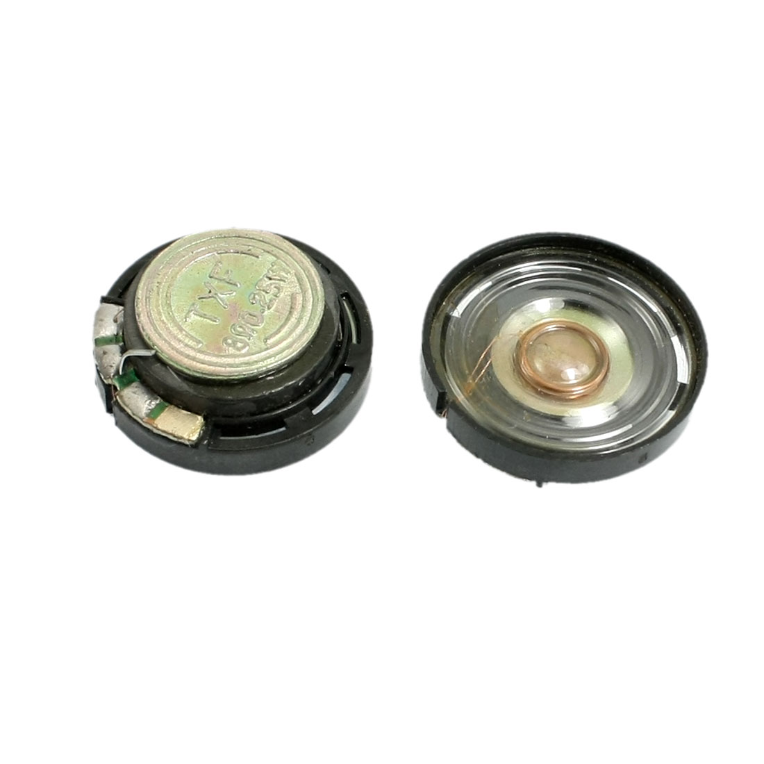 "0.8"" Diameter Round Slim External Magnet Speaker Horn 8 Ohm 0.25W 2 Pcs"