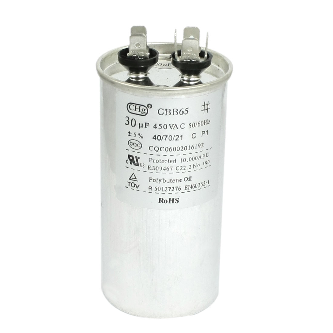 450VAC 30uF CBB65 Air Conditioner Motor Capacitor