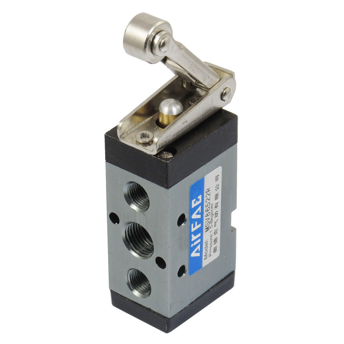 MSV-86522R 13mm Thread Input 2/5 Way Roller Type Solenoid Air Mechanical Valve