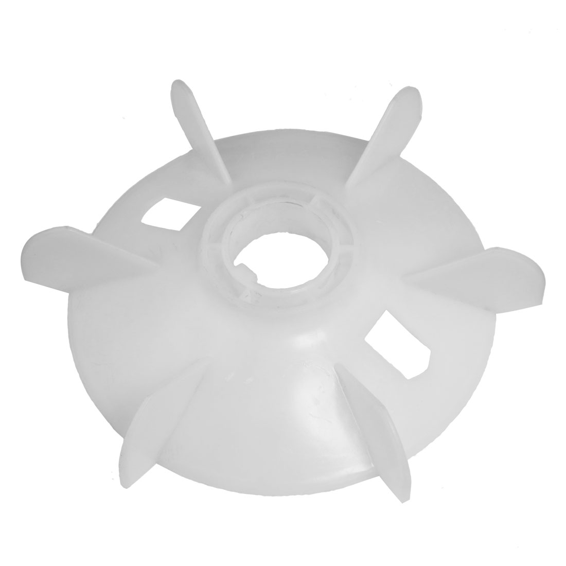 Machine Part Off White Plastic 37mm Inner Dia. Six Impeller Motor Fan Vane