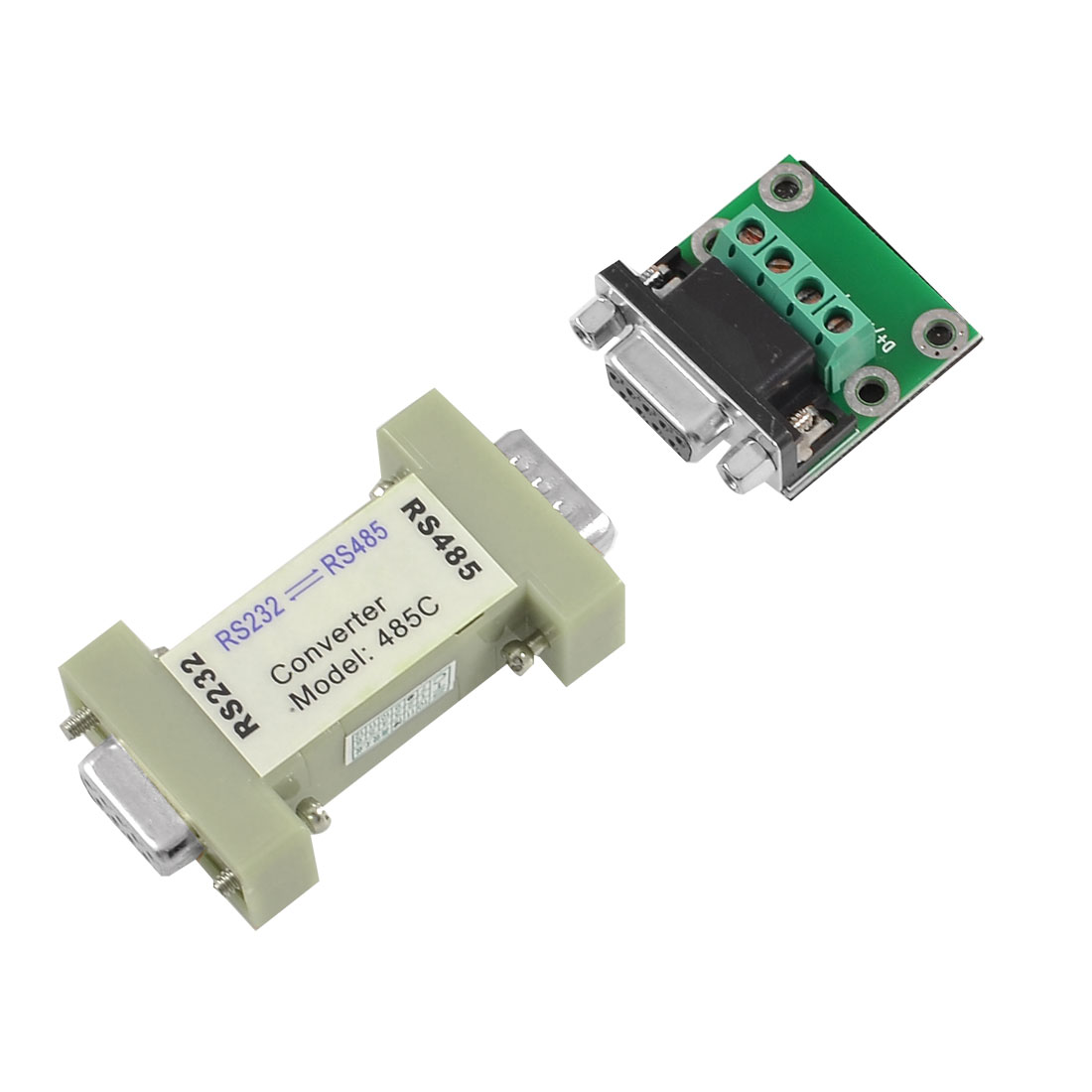 RS232 DB9 9 Pin Female to RS485 Data Transmitter Interface Adapter
