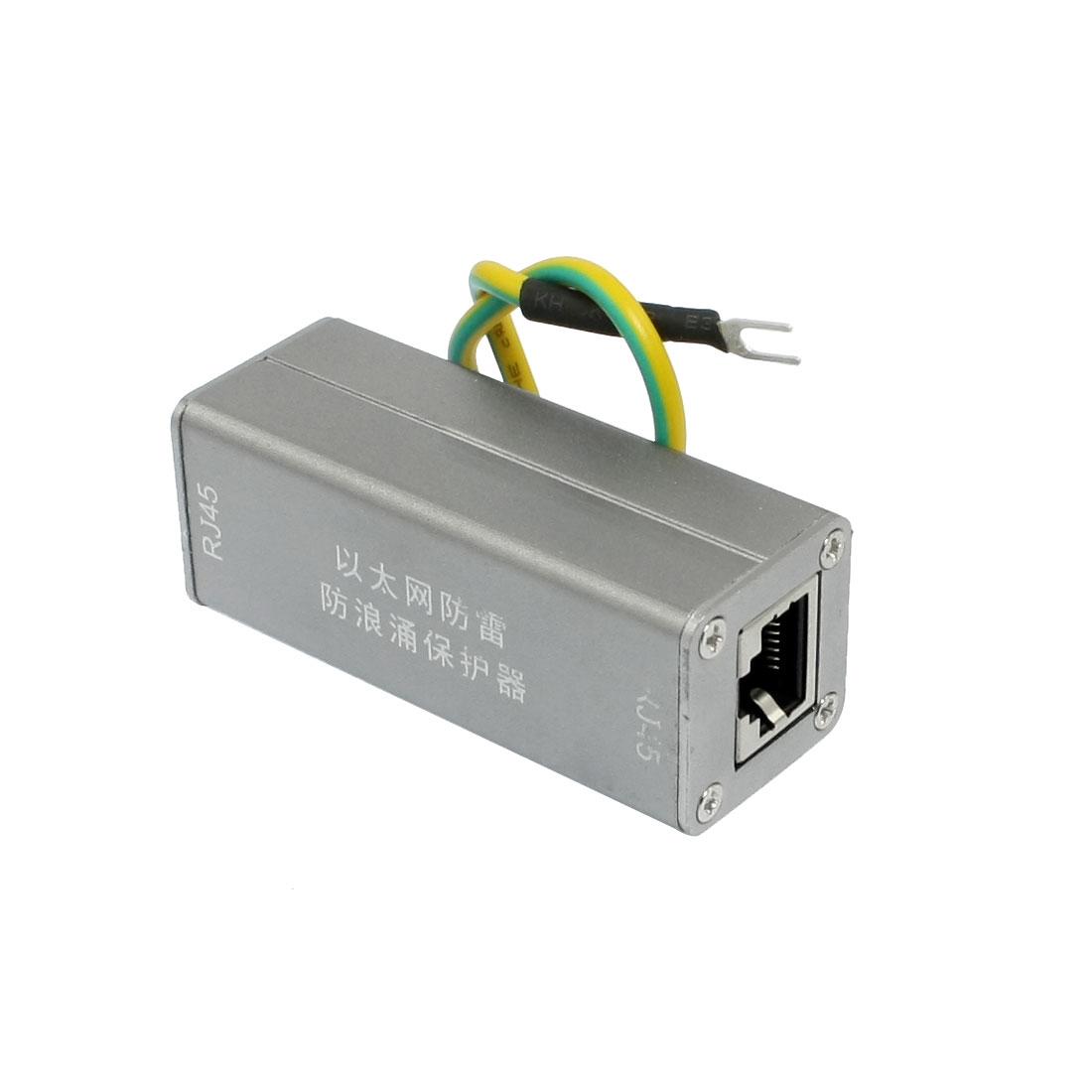100Mbps RJ45 Port Ethernet Network Signal Surge Protector Arrester Thunder