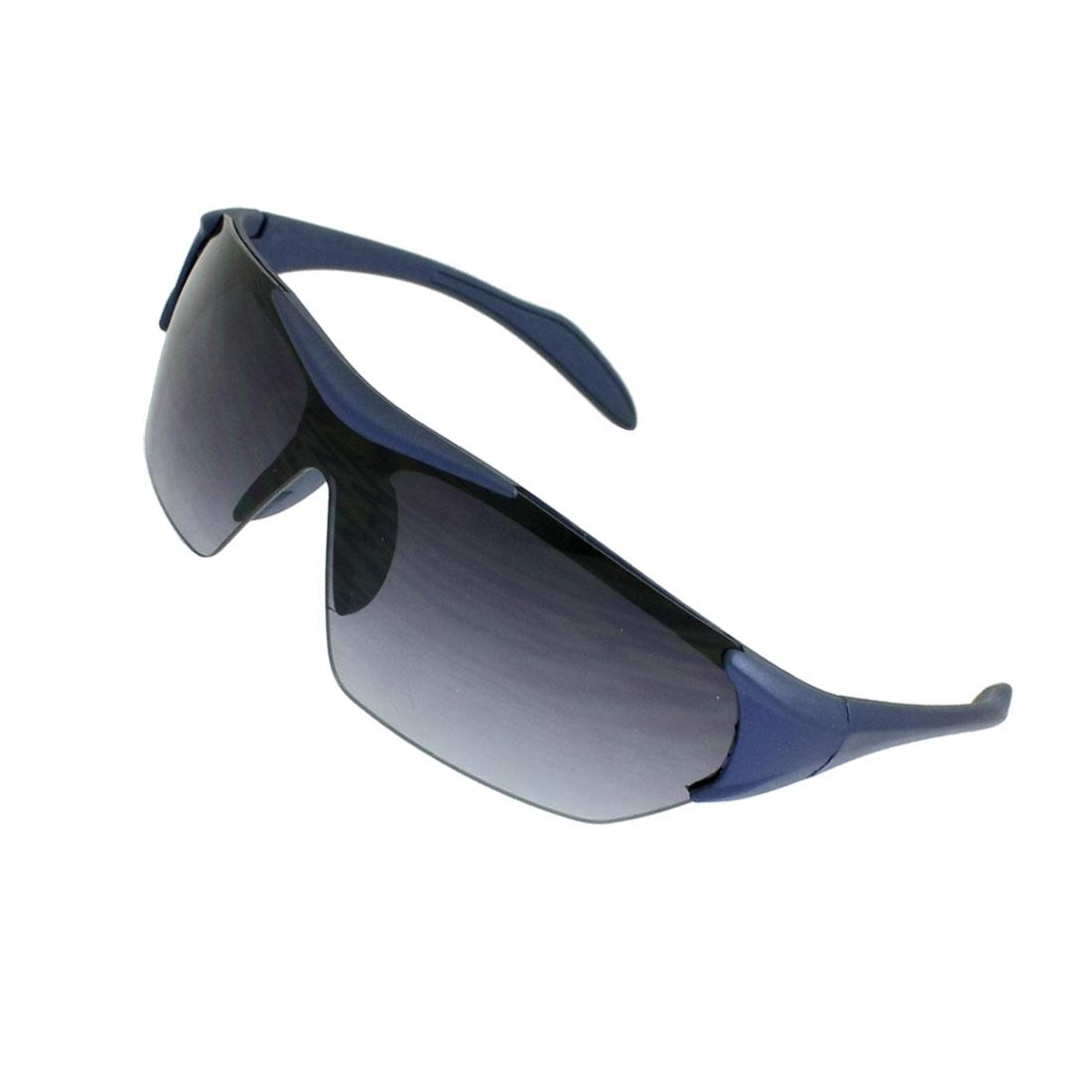 Black Uni-Lens Dark Blue Plastic Frame Sport Sunglasses for Children