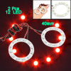 2pcs 40mm Angel Eyes 12 SMD LED Ring Car Rear Light Red