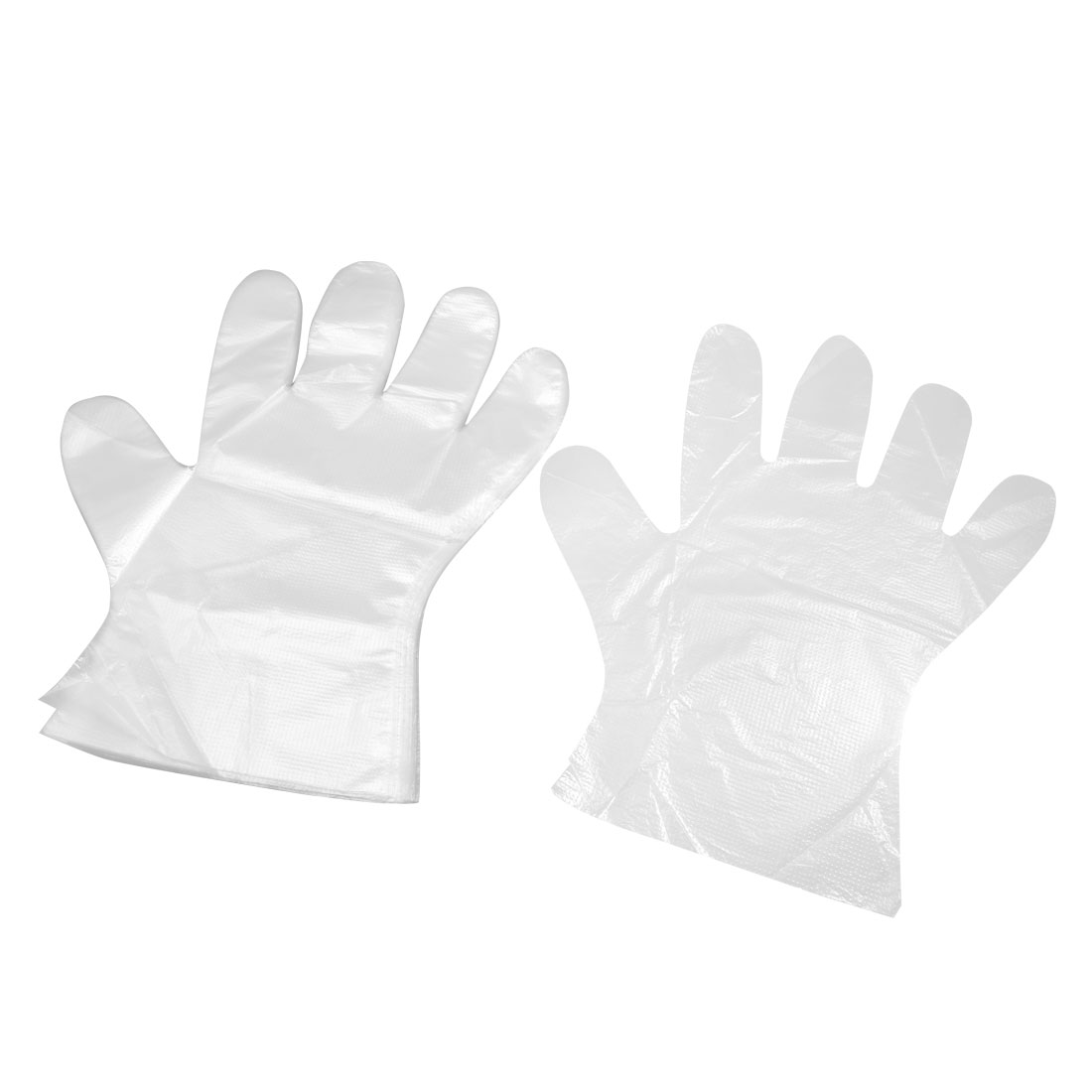 100 Pcs Food Service Hand Protective Plastic Disposable Gloves Clear