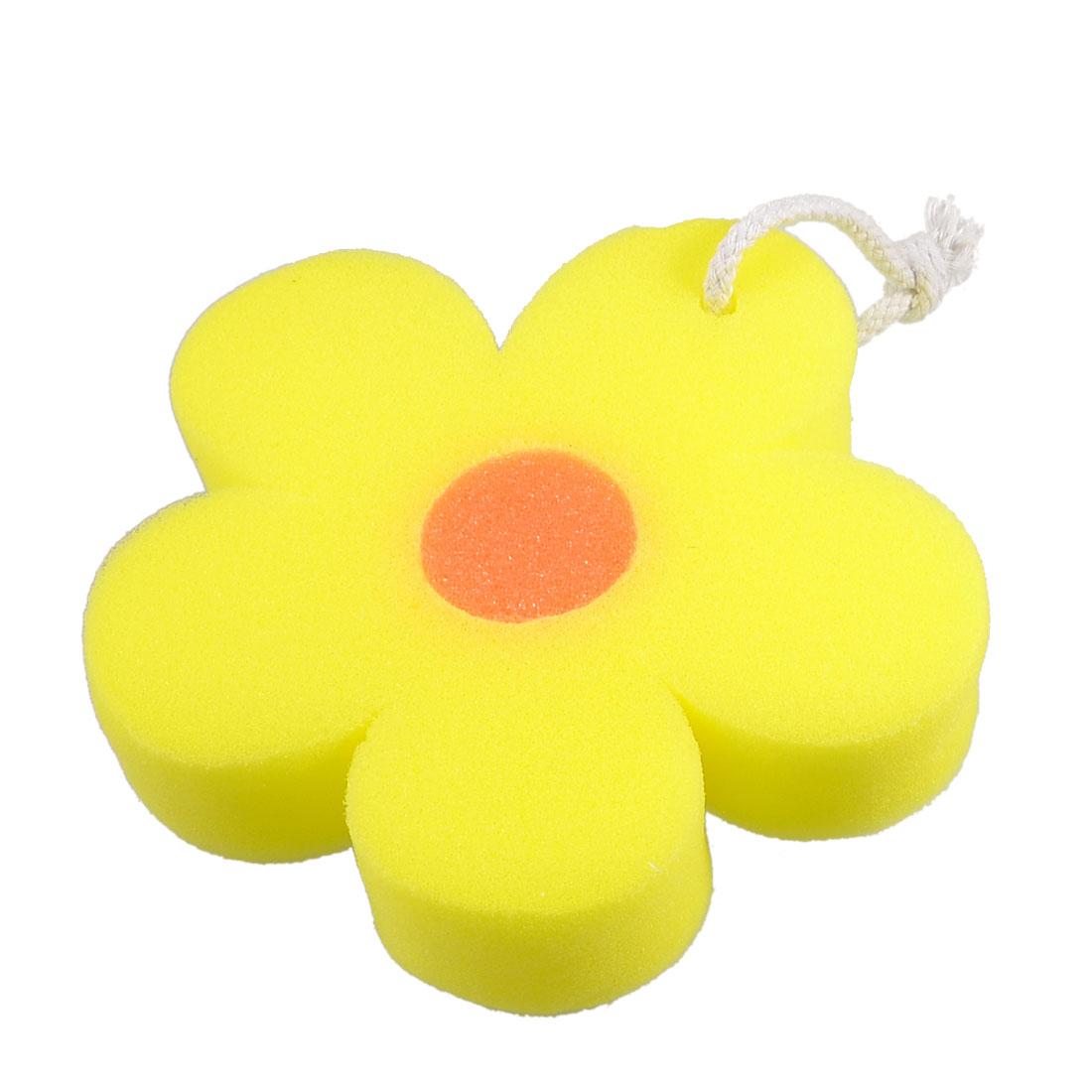 Bathroom Flower Shaped Orange Body Massage Washing Cleaner Bathing Bath Sponge