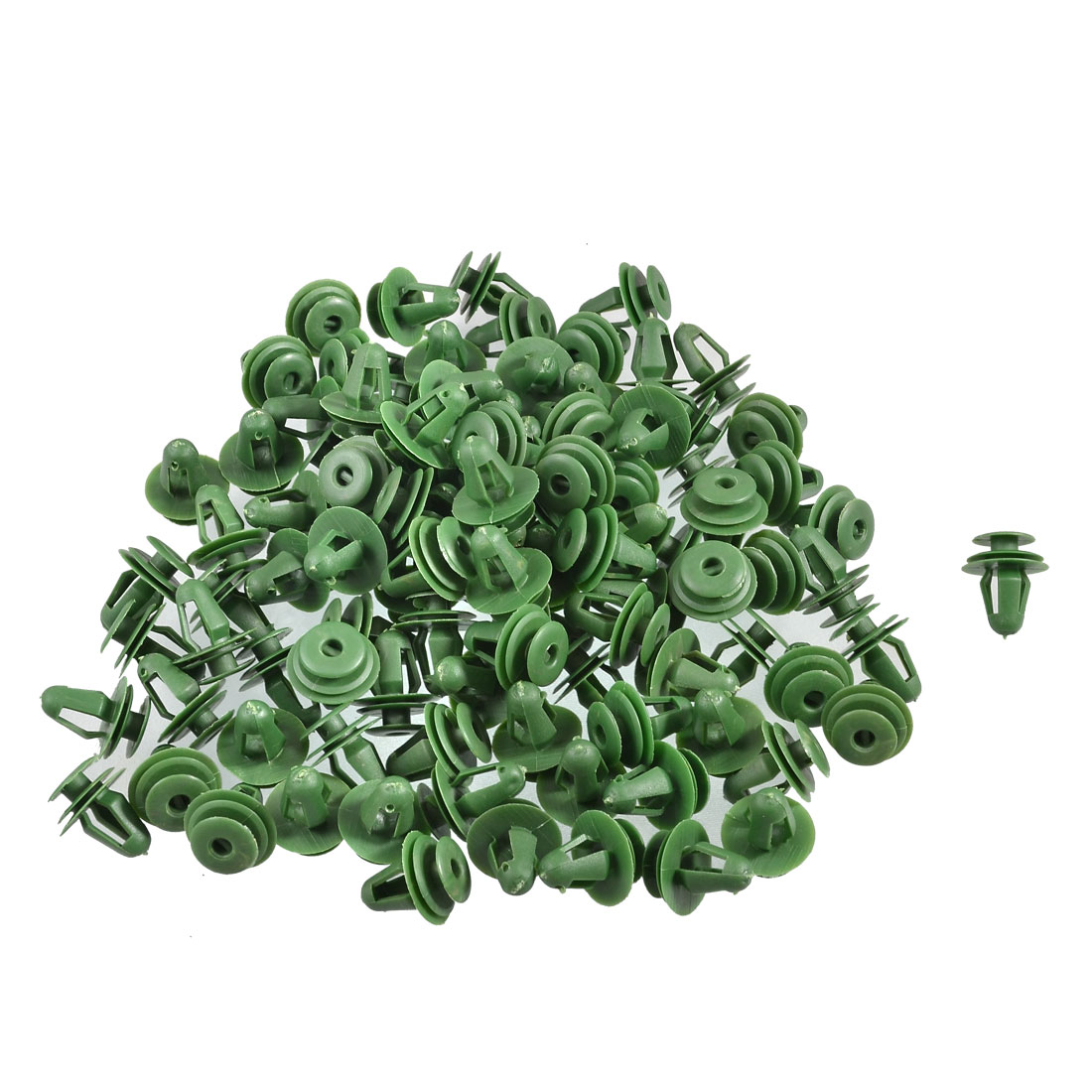100 x Green Plastic Rivets Retainer Clip 17x14x10mm for Car Bumper Fender