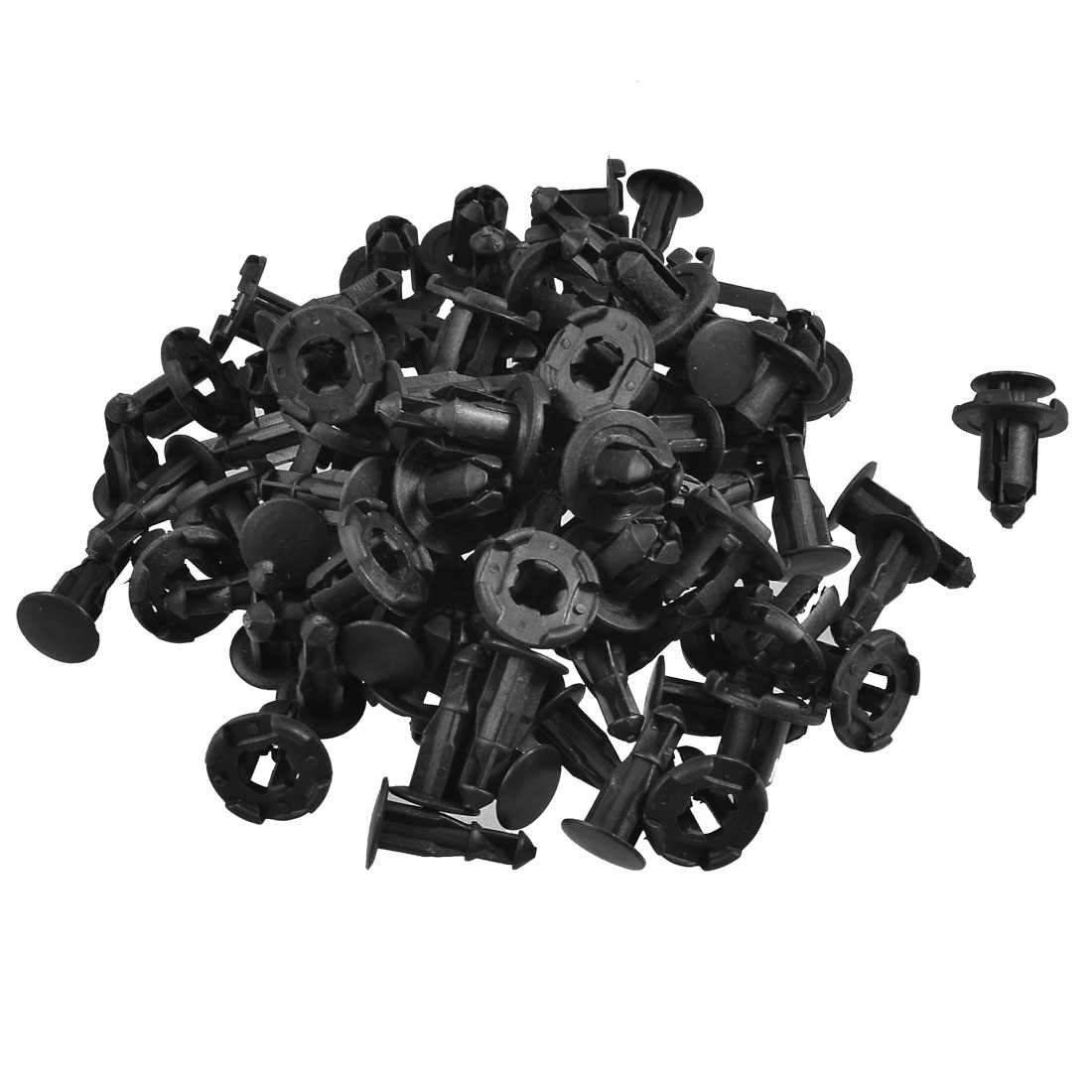 Auto Car Door Fender 10mm Hole Push Plastic Rivets Fastener Black 50 Pcs
