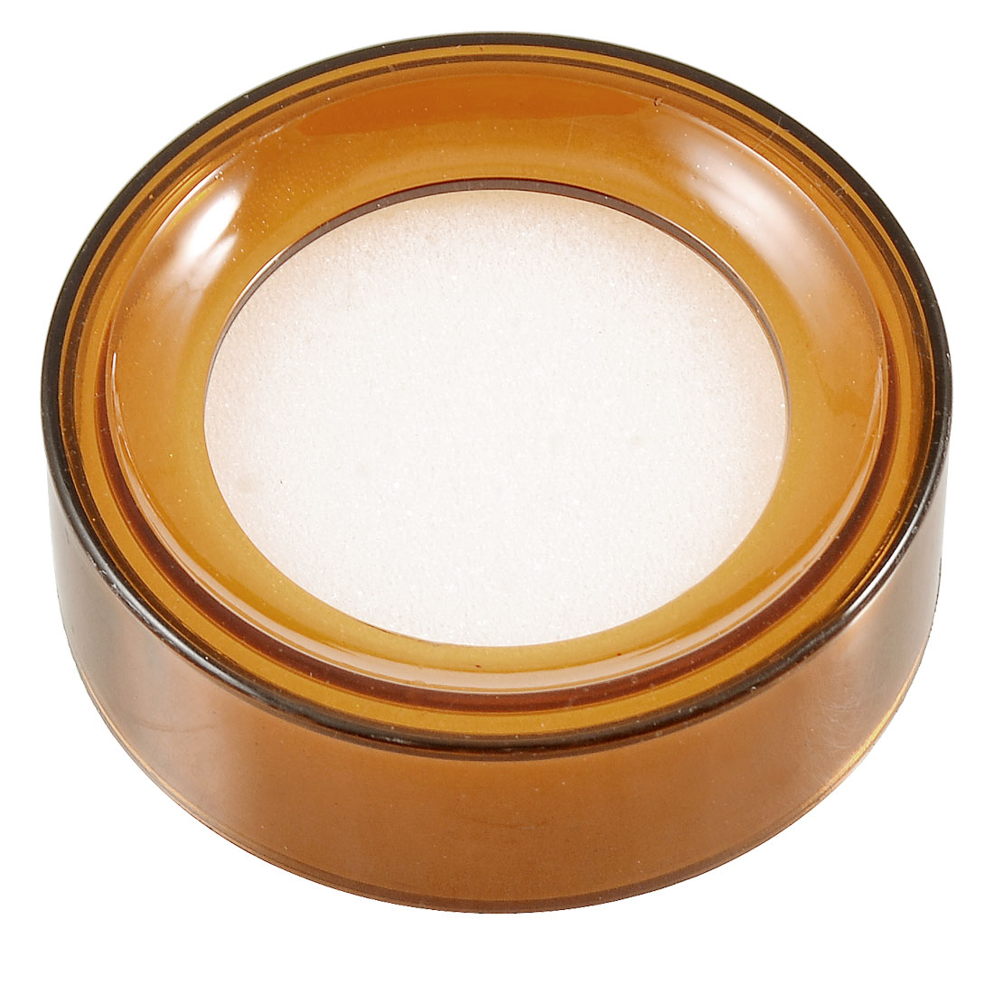 Amber Plastic Round Case White Sponge Finger Wet for Money Casher