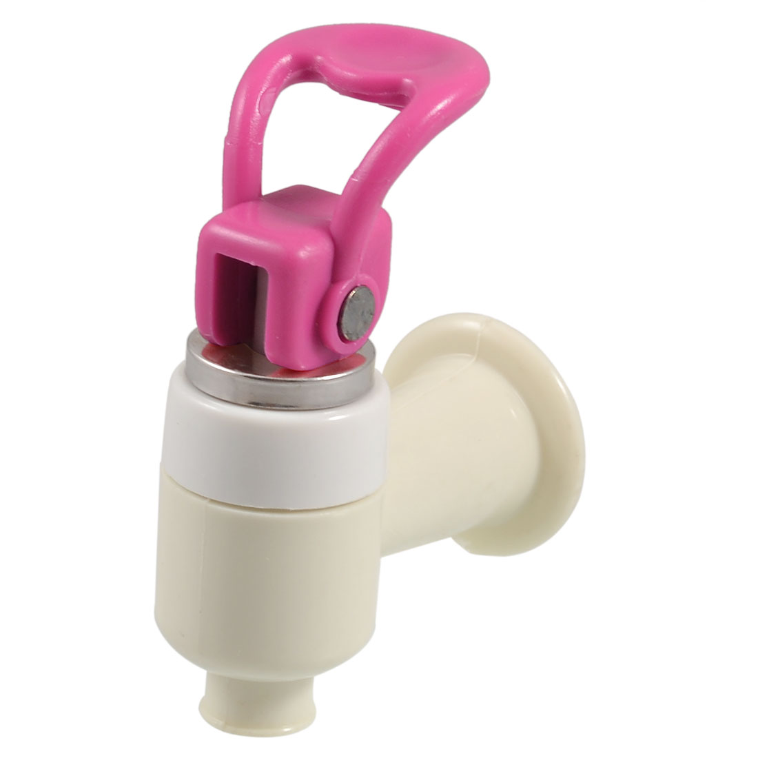 Water Dispenser Round Outlet Plastic Tap Faucet Fuchsia Ivory Replacement